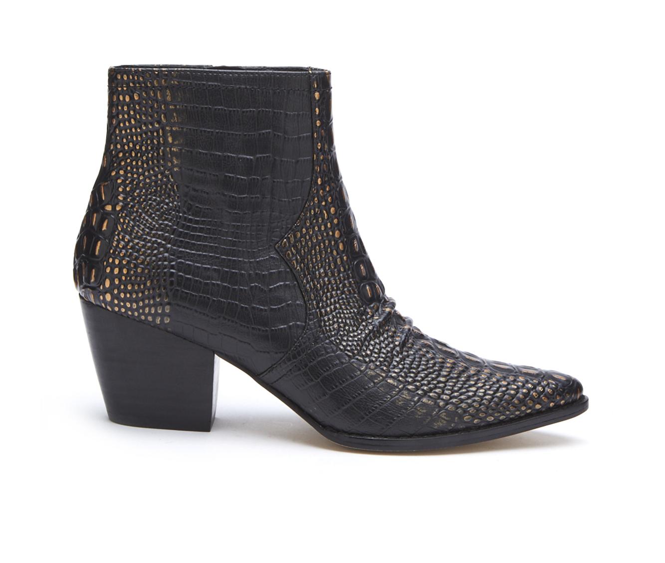 Coconuts Devon Women's Boot (Black Faux Leather)