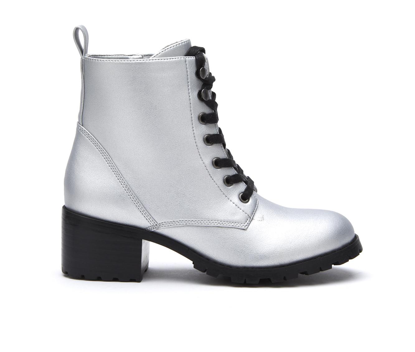 Coconuts Glacier Women's Boot (Silver Faux Leather)