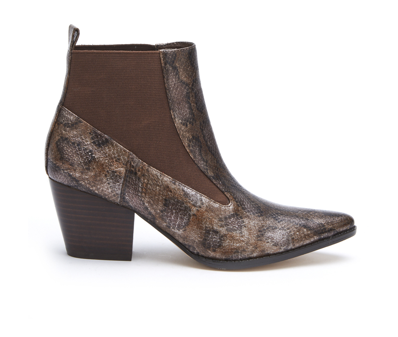 Coconuts Kyoto Women's Boot (Brown Faux Leather)