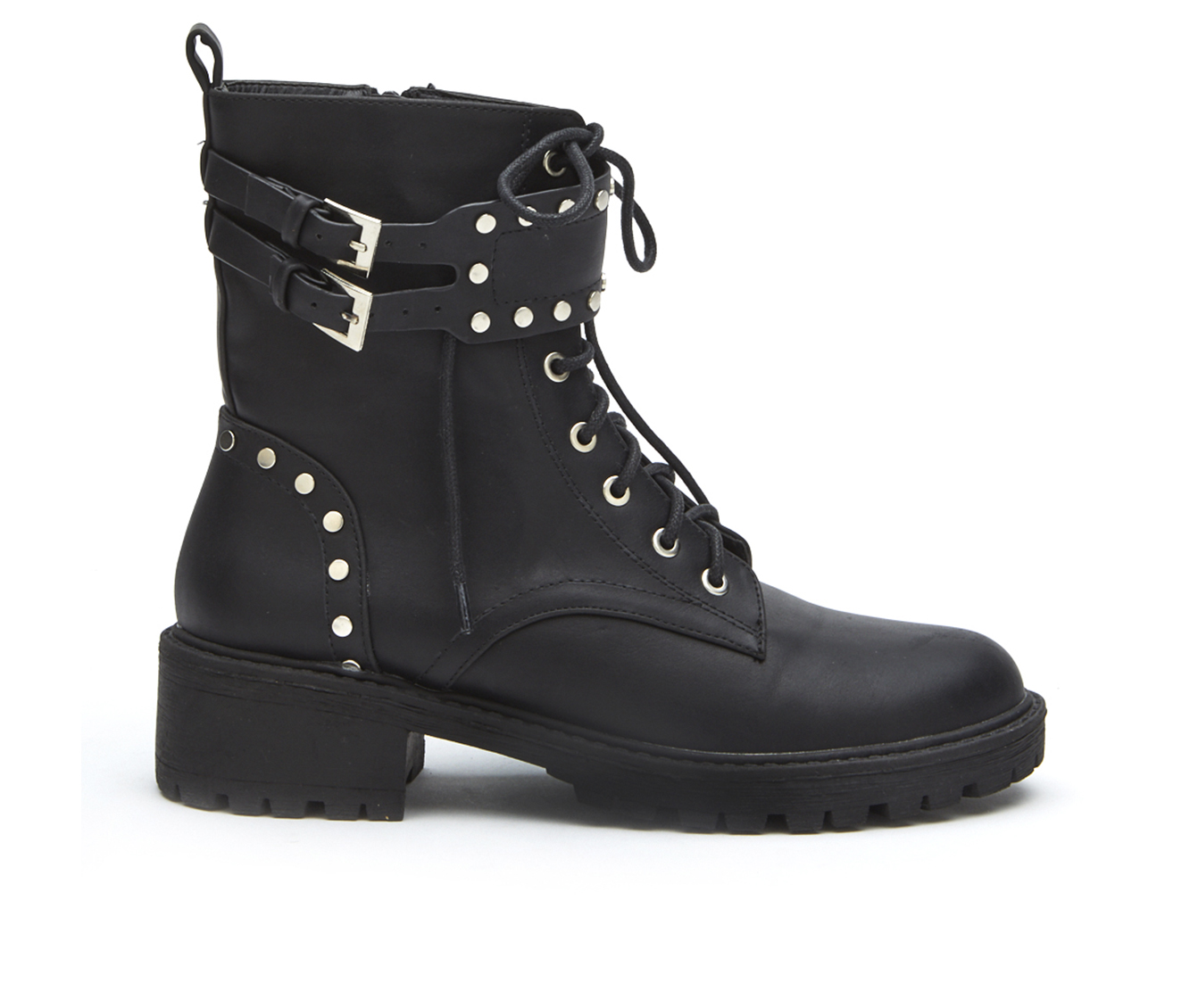 Coconuts Sid Women's Boot (Black Faux Leather)