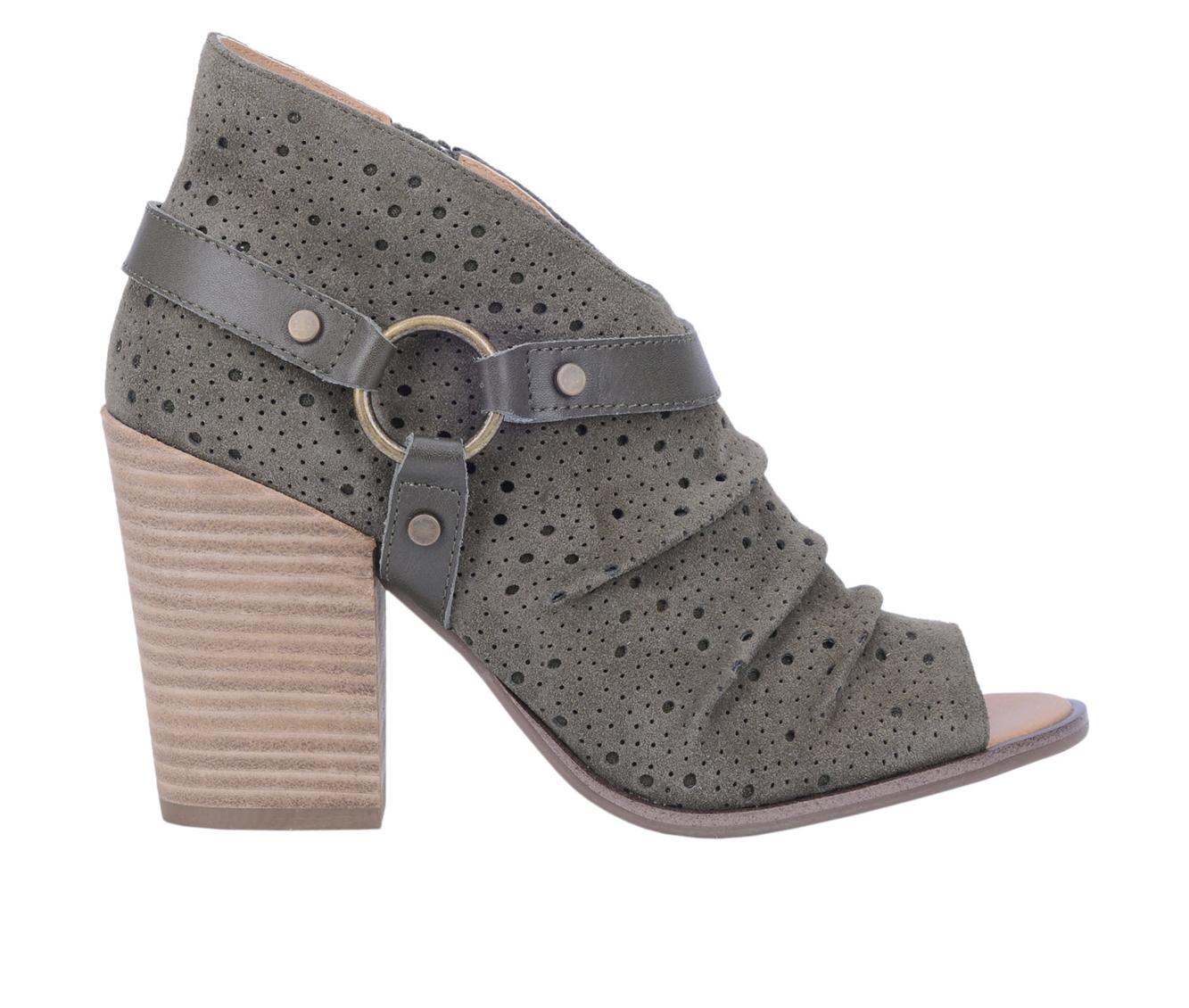 Dingo Boots Spurs Women's Dress Shoe (Green - Leather)