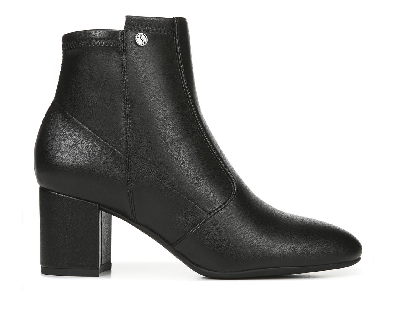 Franco Sarto Nastia Women's Boot (Black Faux Leather)