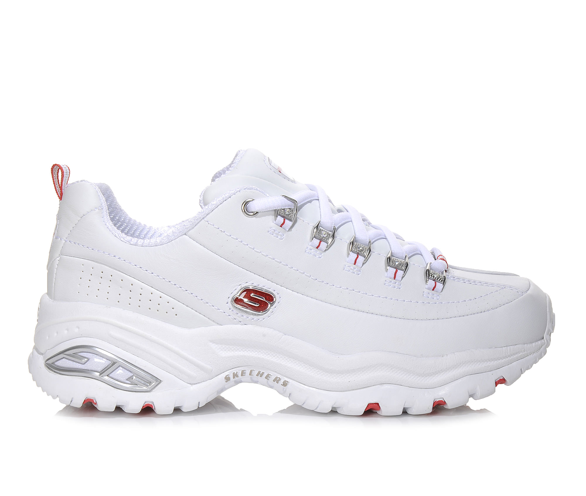 Skechers D'Lites Tiffany 11097 Women's Athletic Shoe (White Leather)