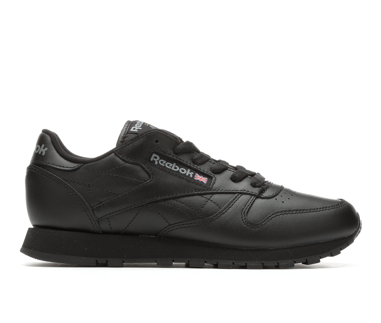 Reebok Classic Leather Jog Women's Athletic Shoe (Black Leather)