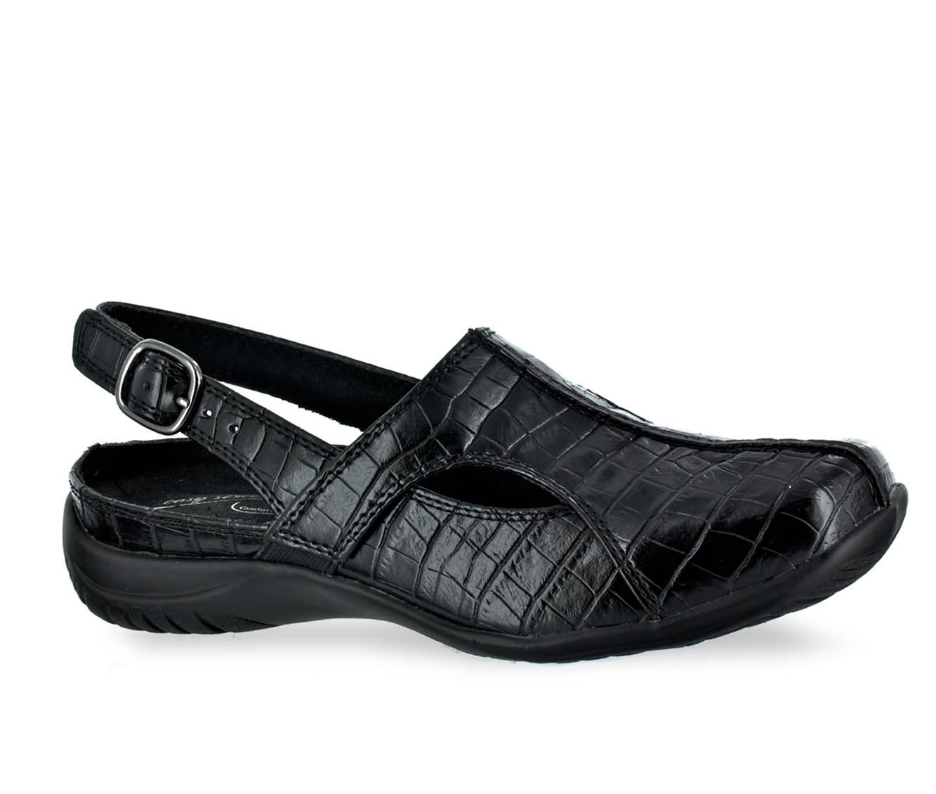Easy Street Sportser Women's Shoe (Black Faux Leather)