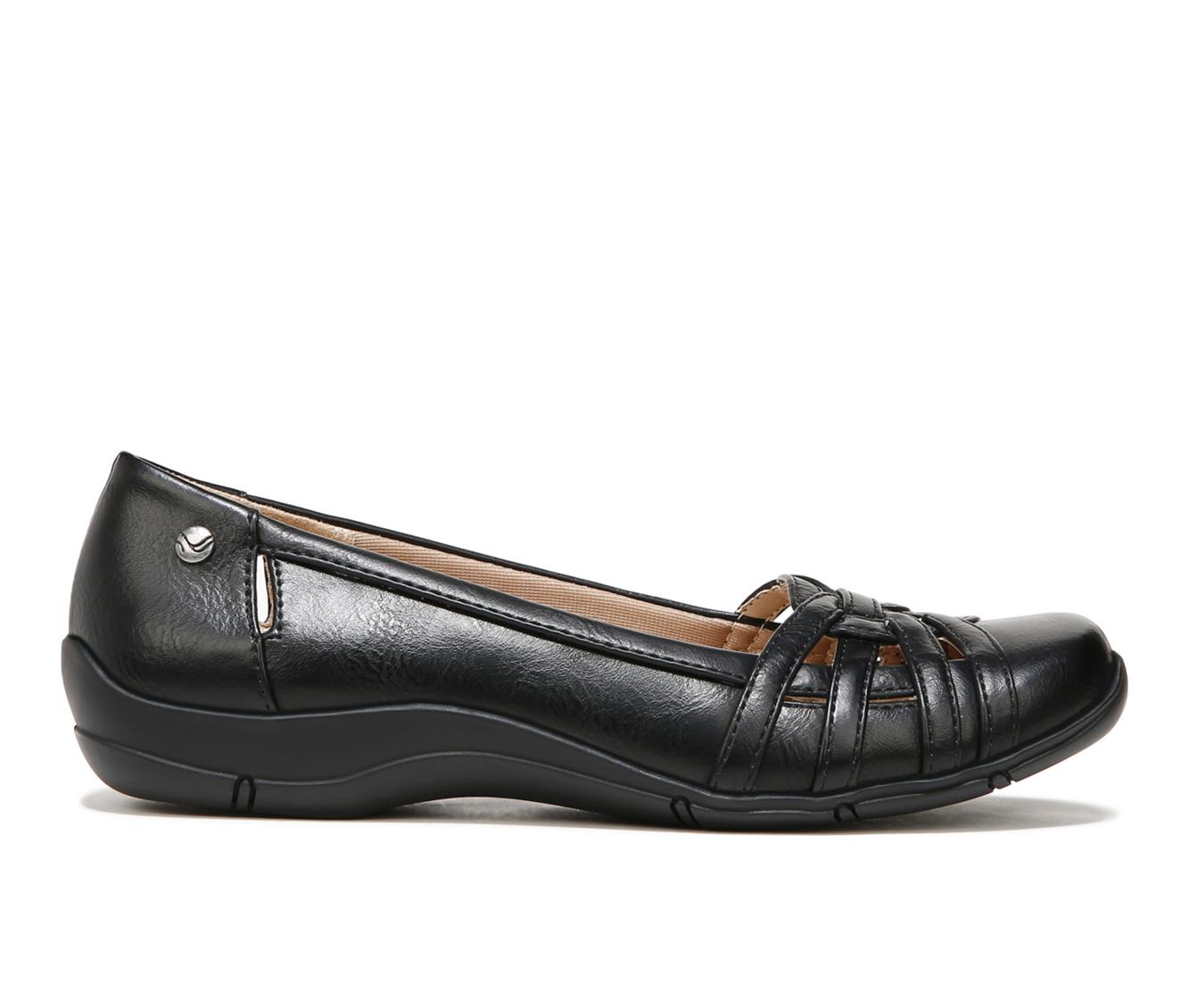 LifeStride Diverse Women's Shoe (Black Faux Leather)