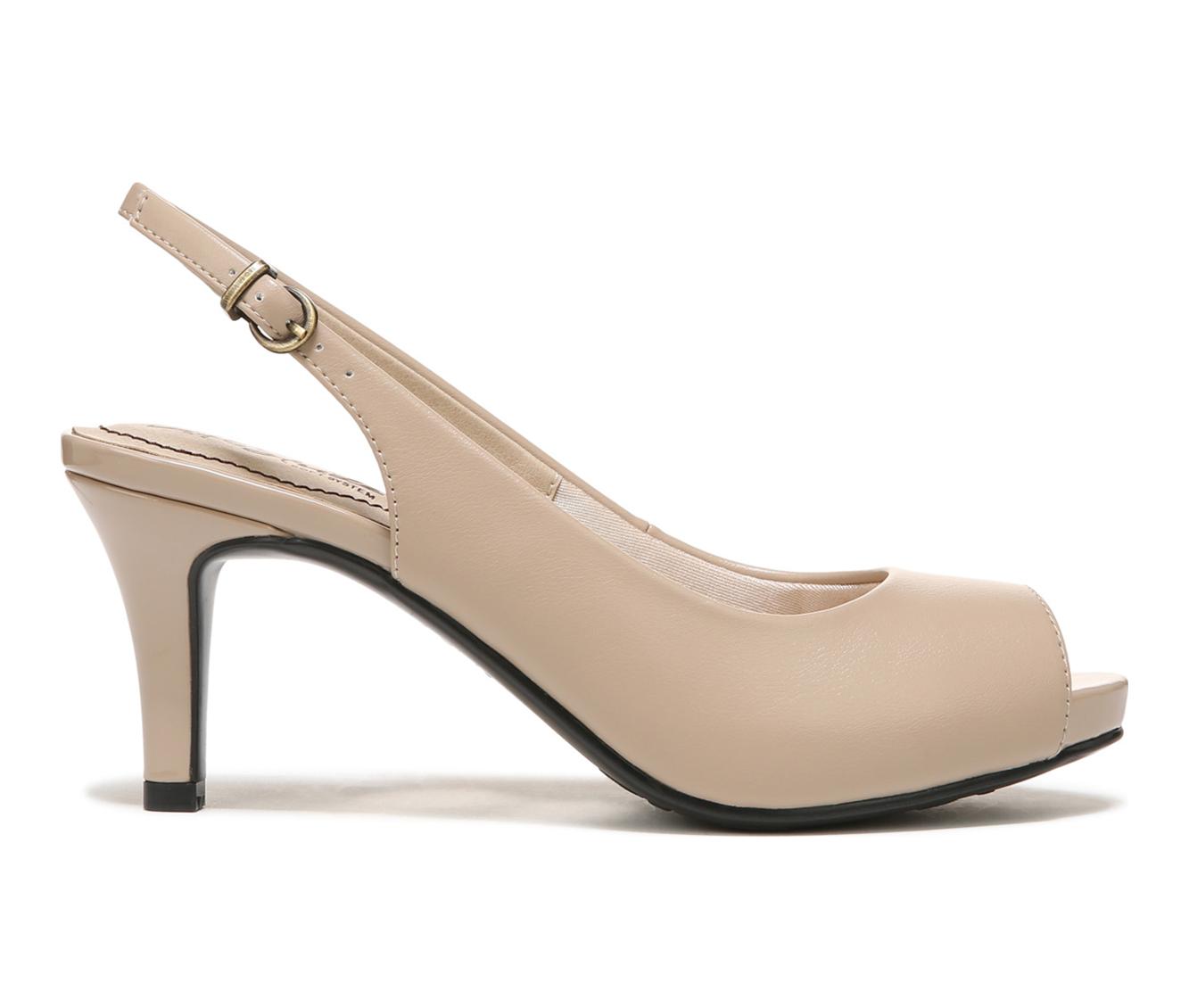LifeStride Teller Women's Dress Shoe (Beige Faux Leather)