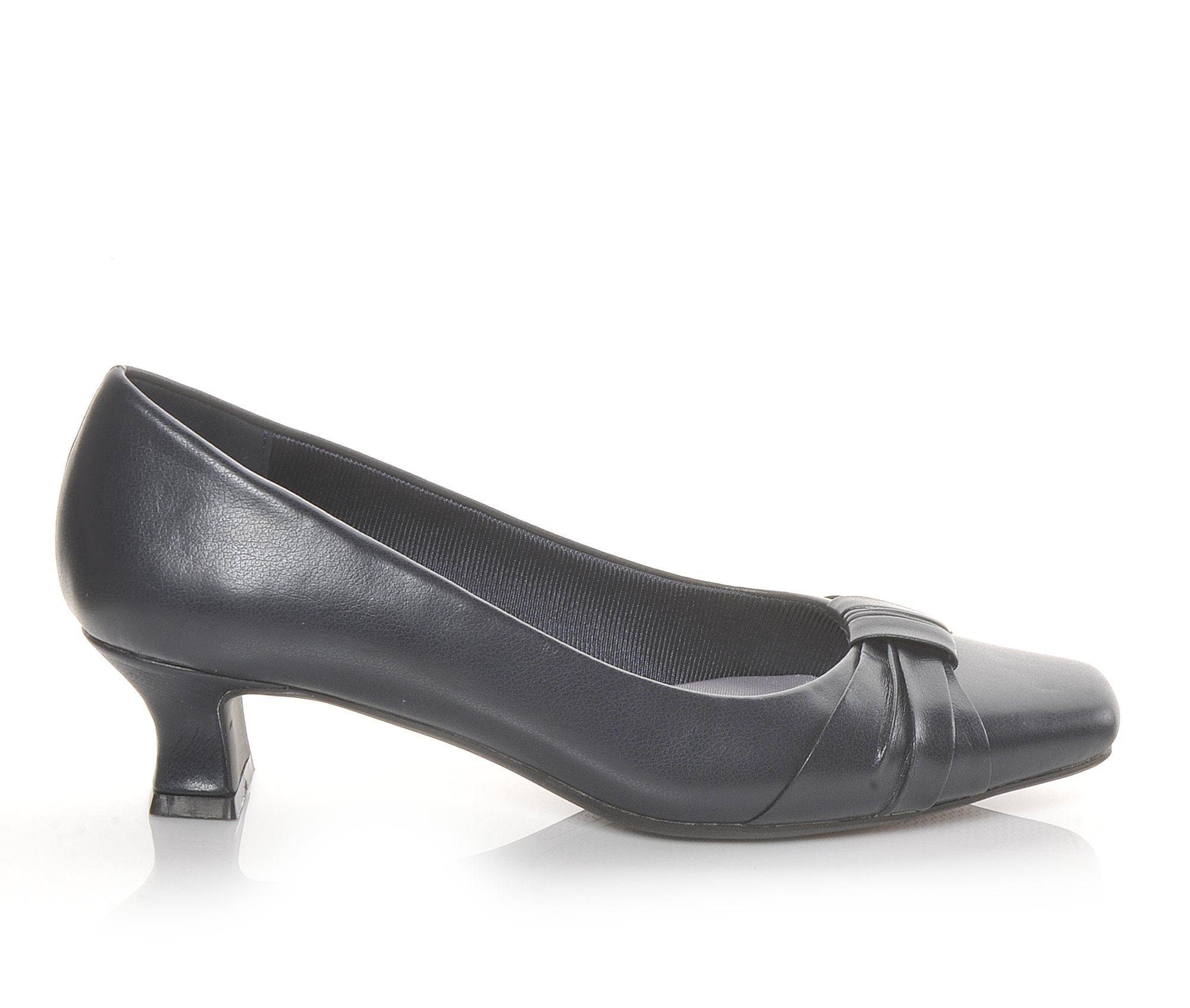 Easy Street Waive Women's Dress Shoe (Blue Faux Leather)