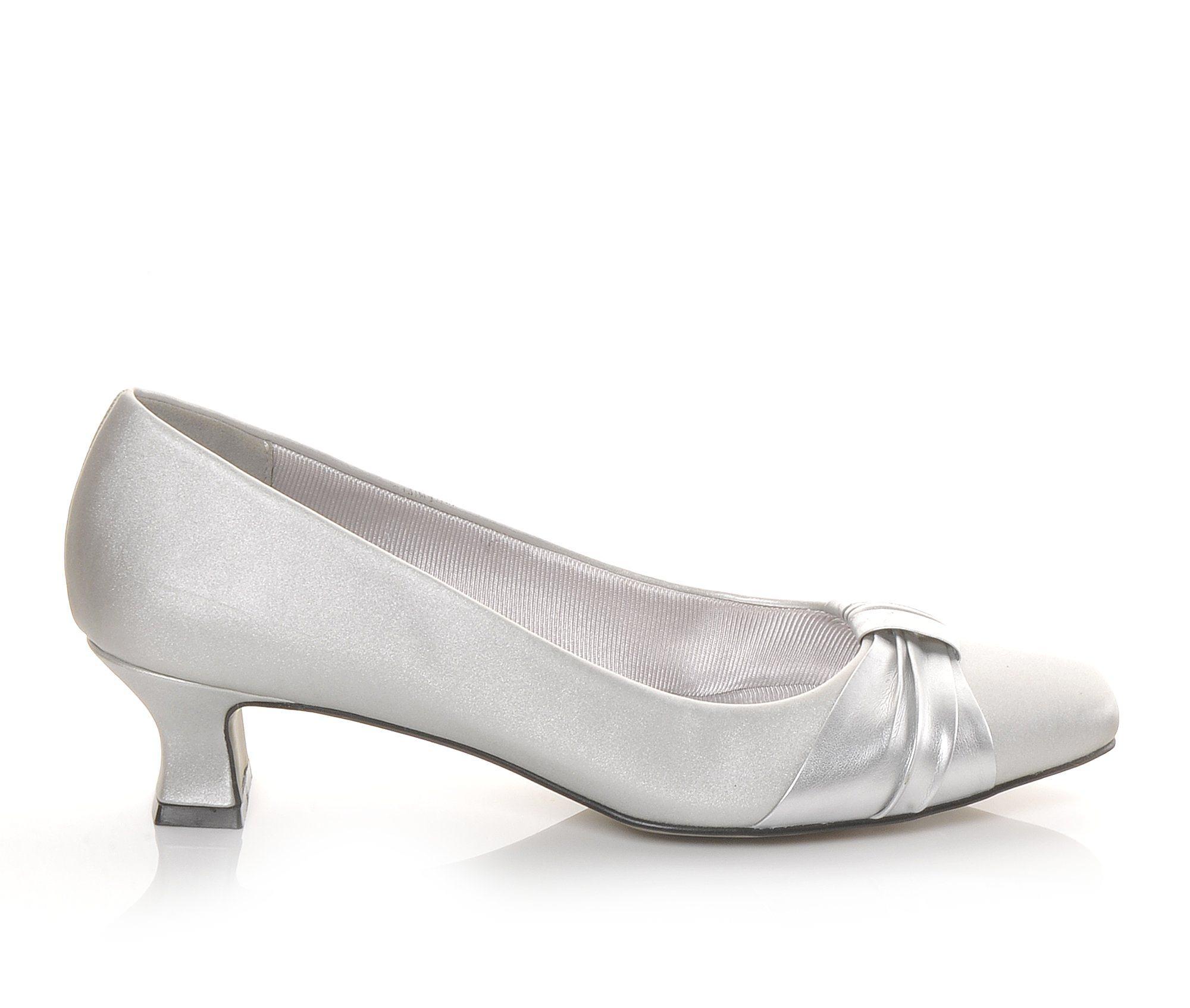 Easy Street Waive Women's Dress Shoe (Silver Canvas)