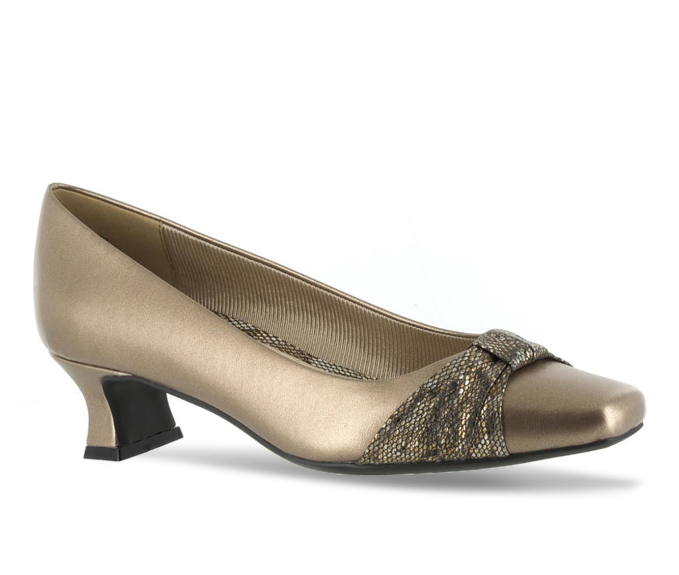 Easy Street Waive Women's Dress Shoe (Gold Faux Leather)
