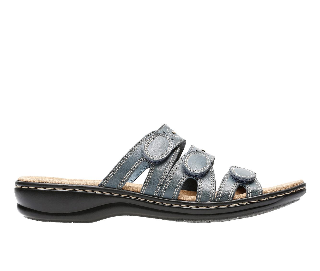 Clarks Leisa Cacti Women's Sandal (Blue Leather)
