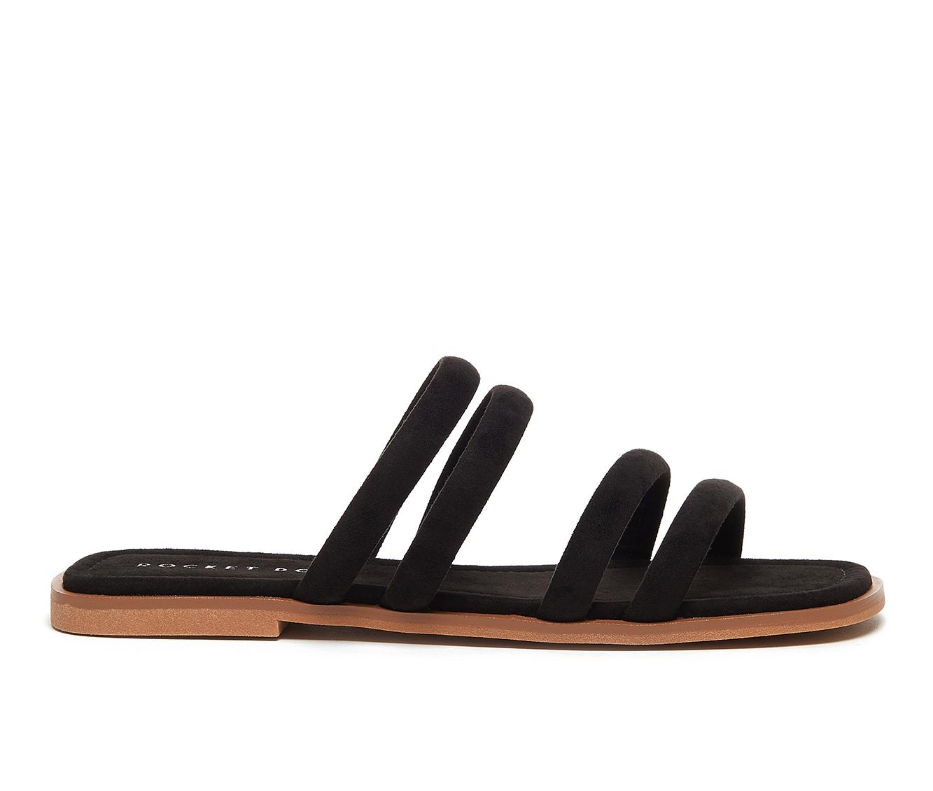 Rocket Dog Felicia Women's Sandal (Black Faux Leather)