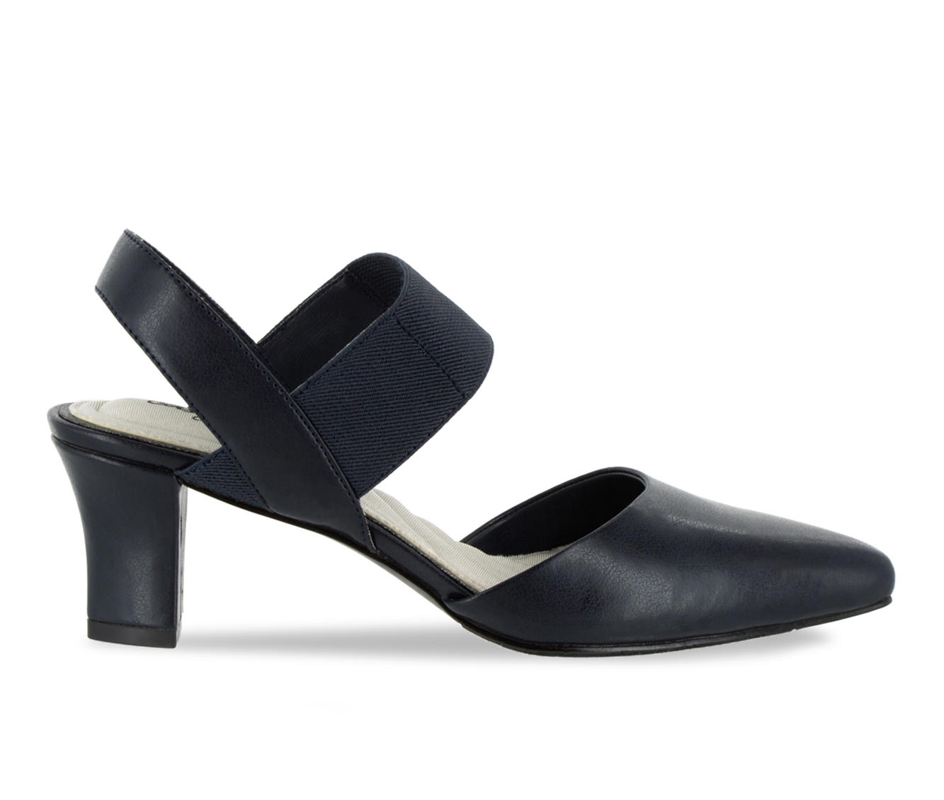 Easy Street Vibrant Women's Dress Shoe (Blue Faux Leather)