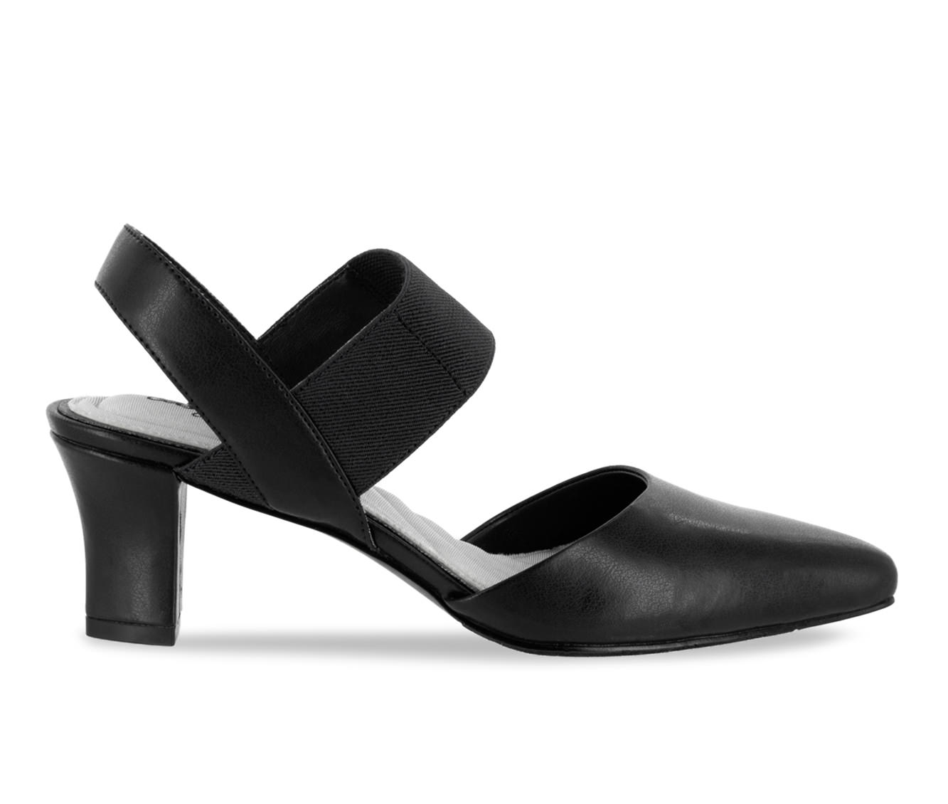 Easy Street Vibrant Women's Dress Shoe (Black Faux Leather)