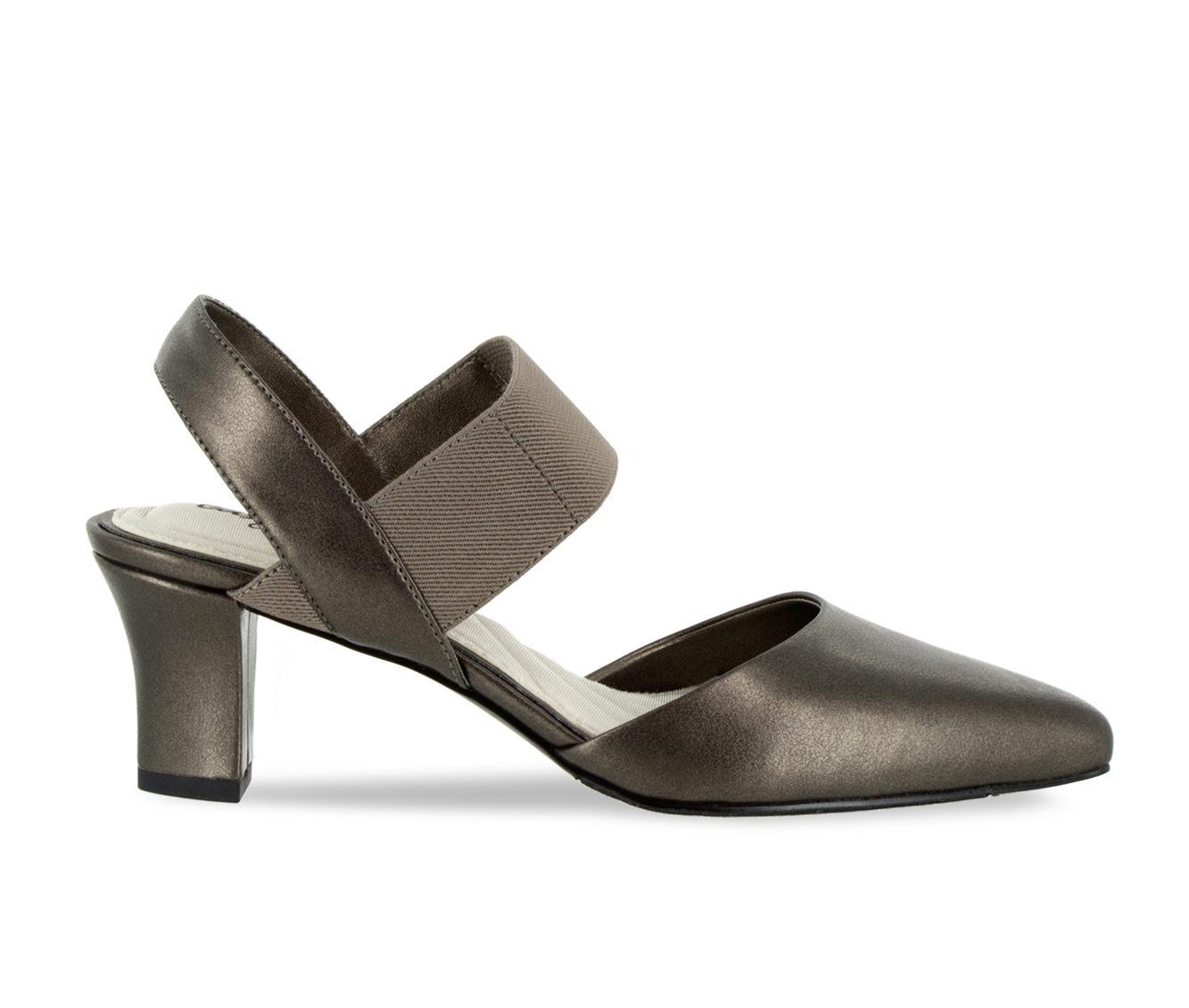 Easy Street Vibrant Women's Dress Shoe (Gray Faux Leather)