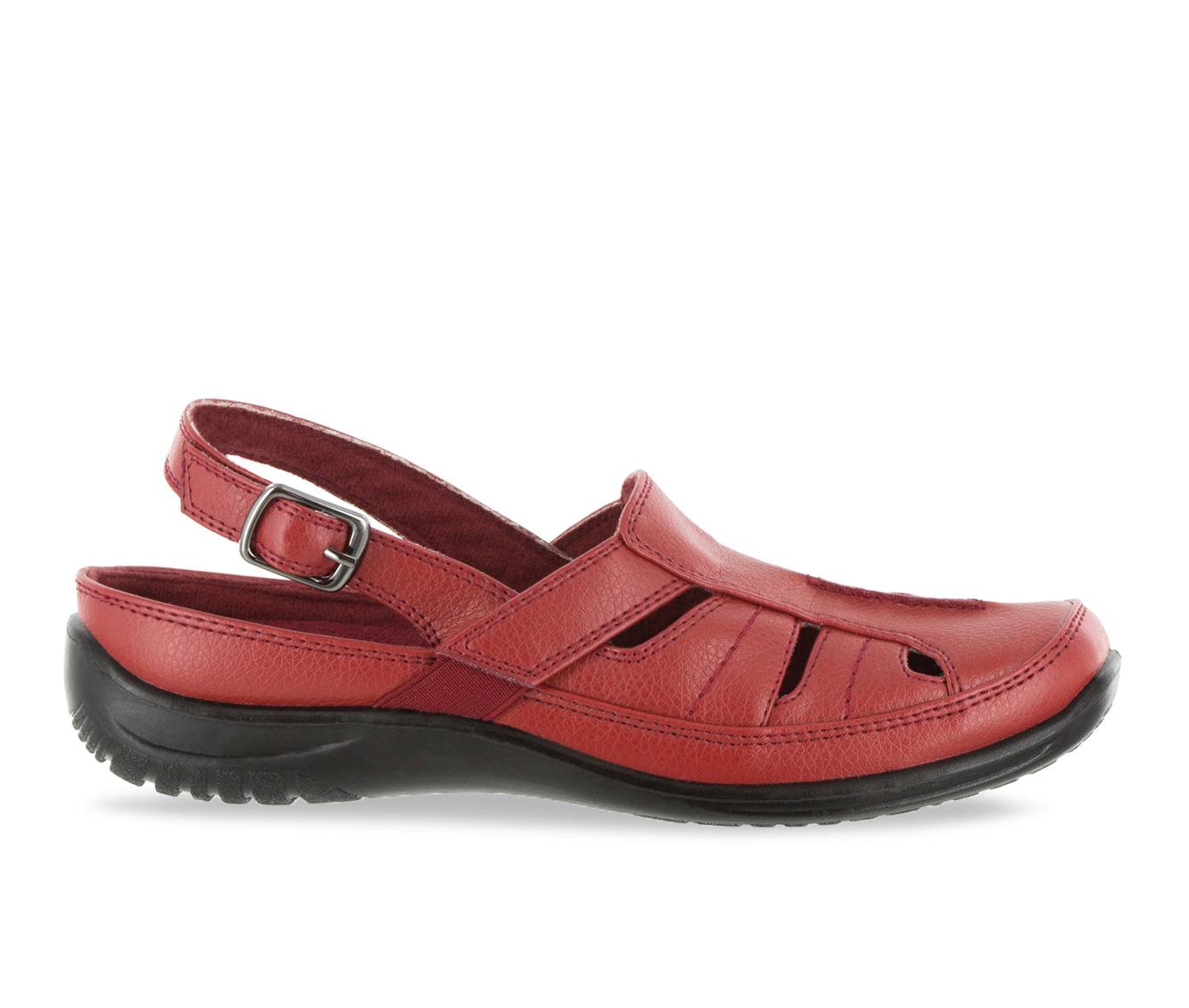Easy Street Splendid Women's Shoe (Red Faux Leather)