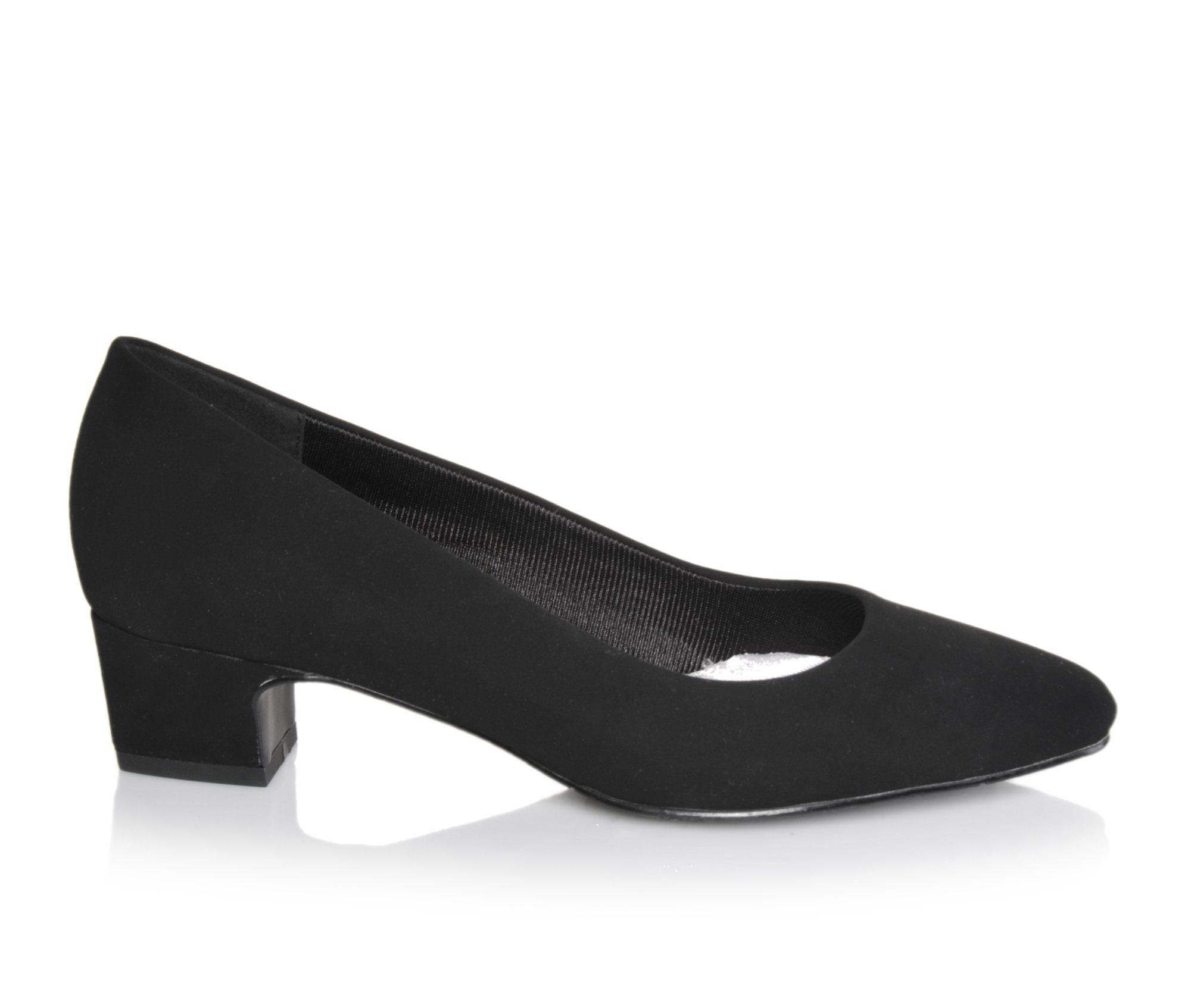 Easy Street Prim Women's Dress Shoe (Black Faux Leather)