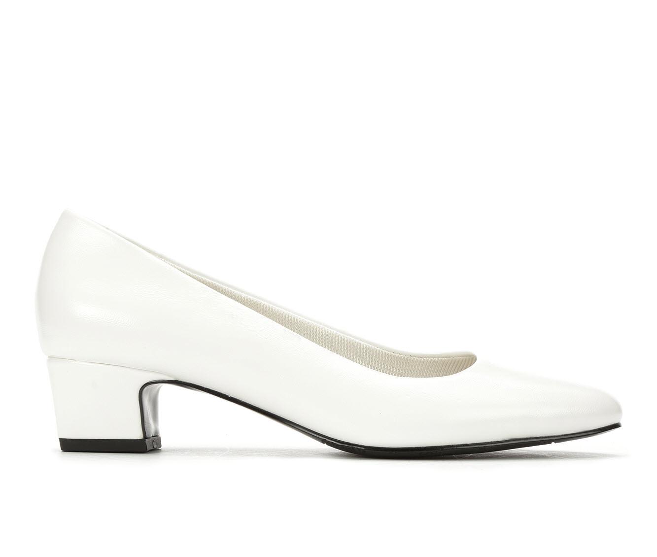 Easy Street Prim Women's Dress Shoe (White Faux Leather)