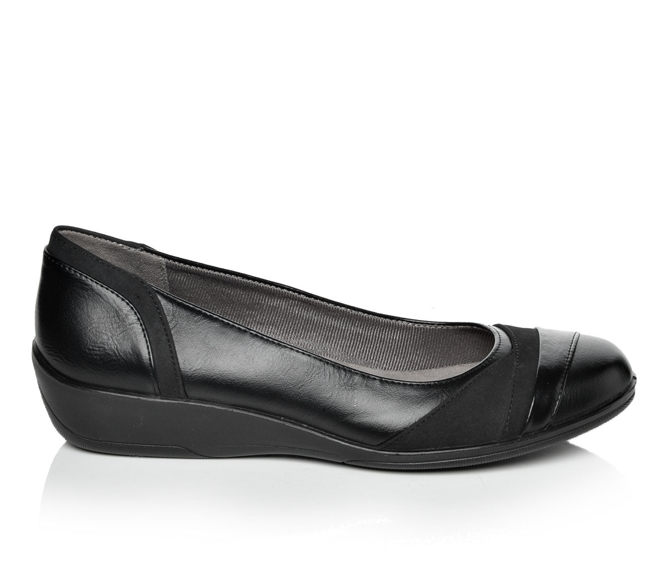 LifeStride Indeed Women's Shoe (Black Faux Leather)