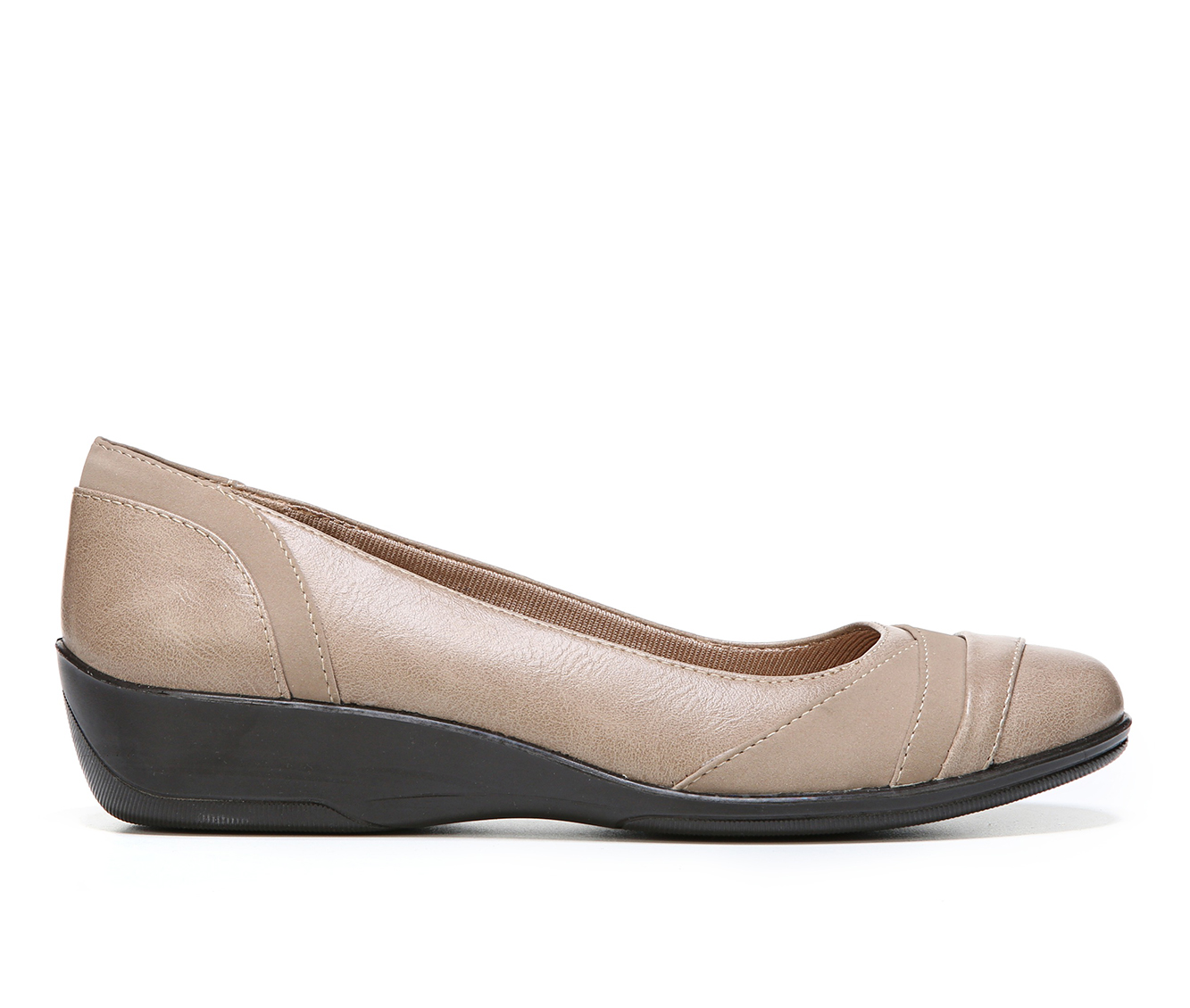 LifeStride Indeed Women's Shoe (Beige Faux Leather)
