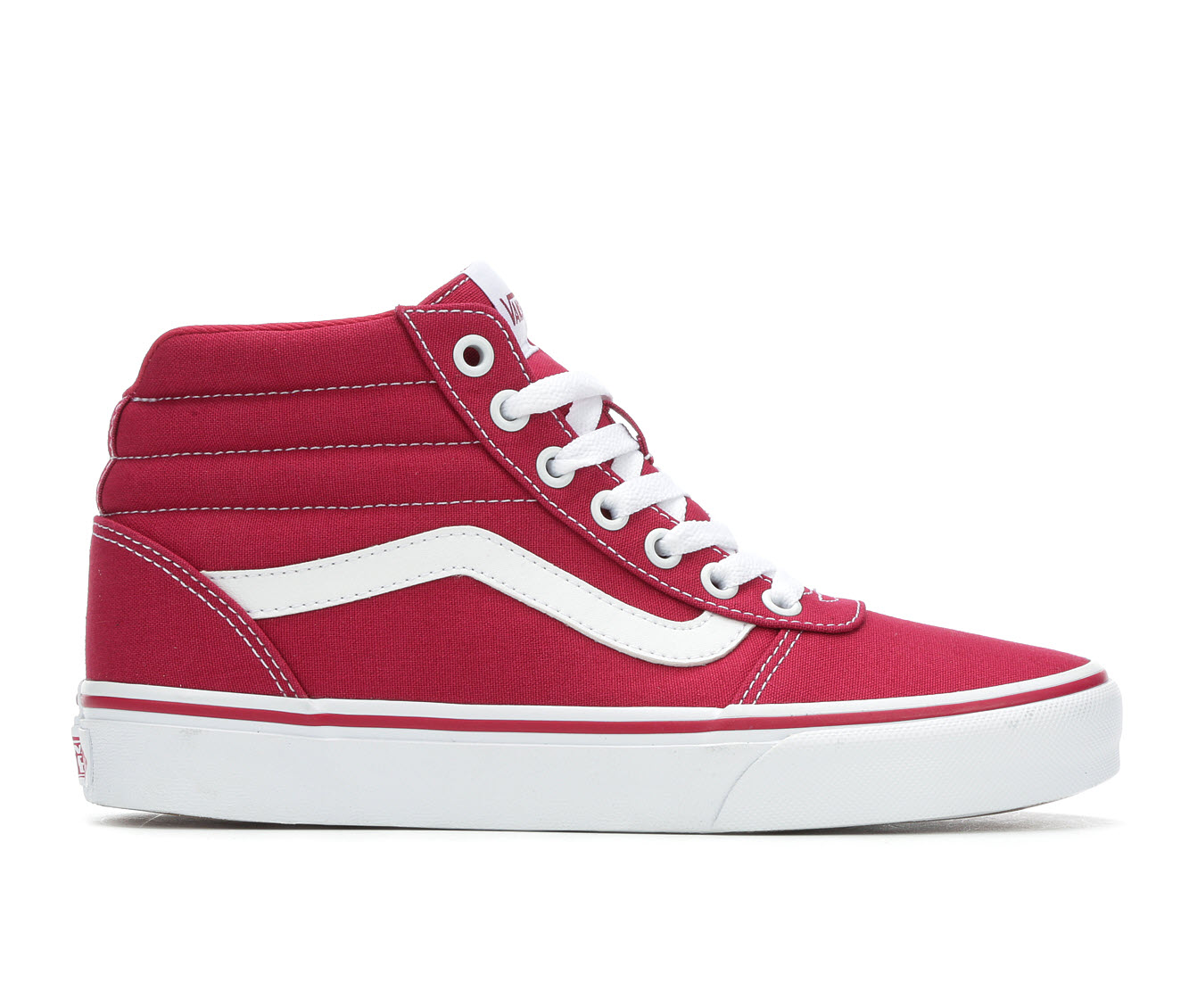 Vans Ward Hi Women's Athletic Shoe (Red)
