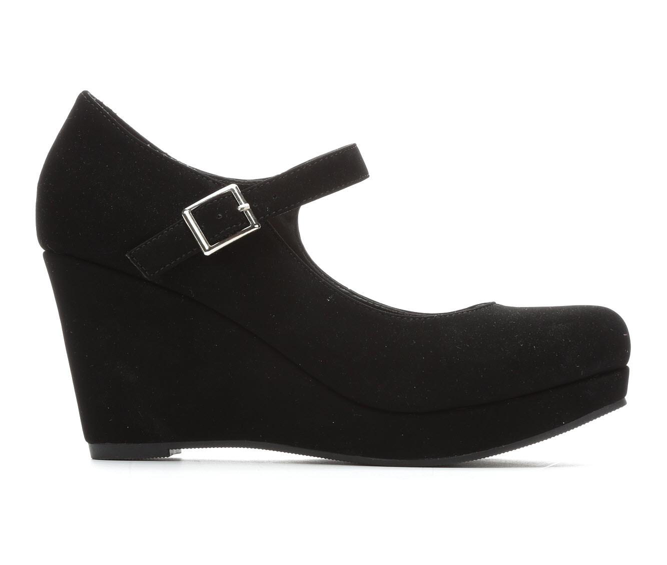 Y-Not Mallory Women's Dress Shoe (Black Faux Leather)