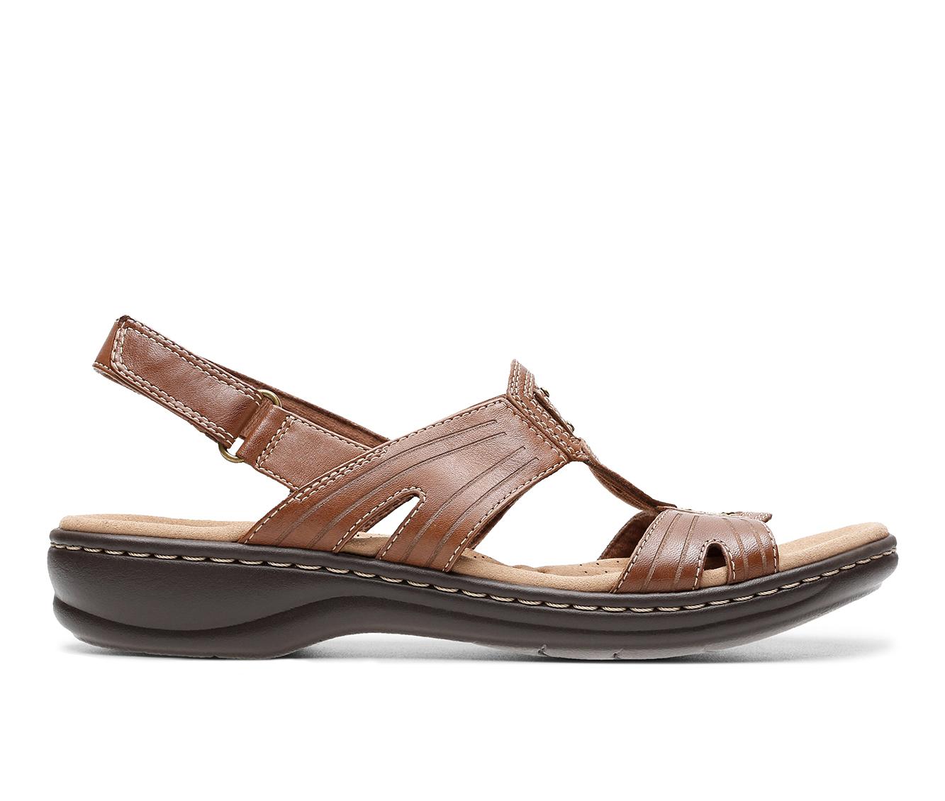 Clarks Leisa Vine Women's Sandal (Brown Leather)