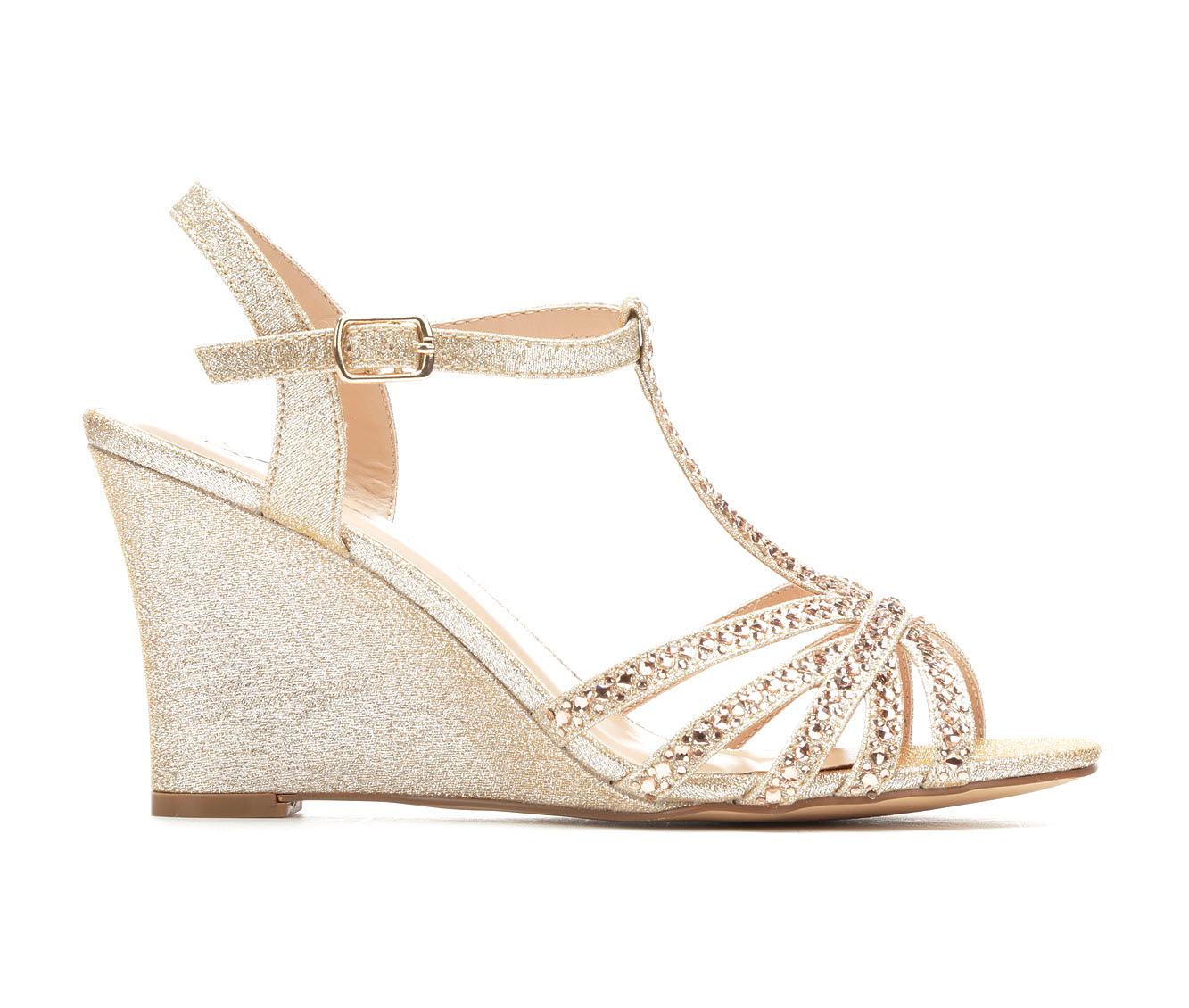 LLorraine Lanie Women's Dress Shoe (Gold Canvas)