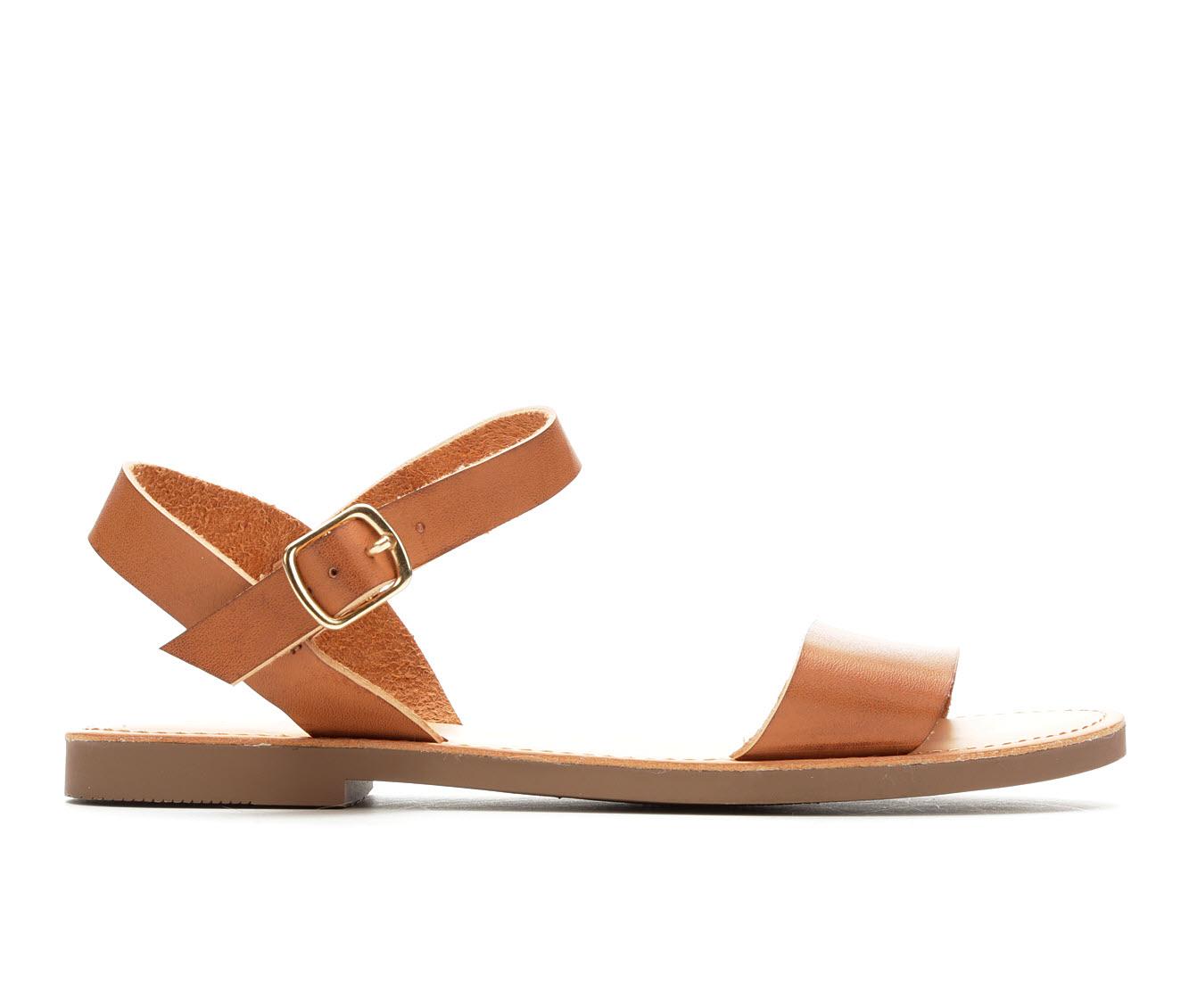 Y-Not Bigboss Women's Sandal (Brown Faux Leather)