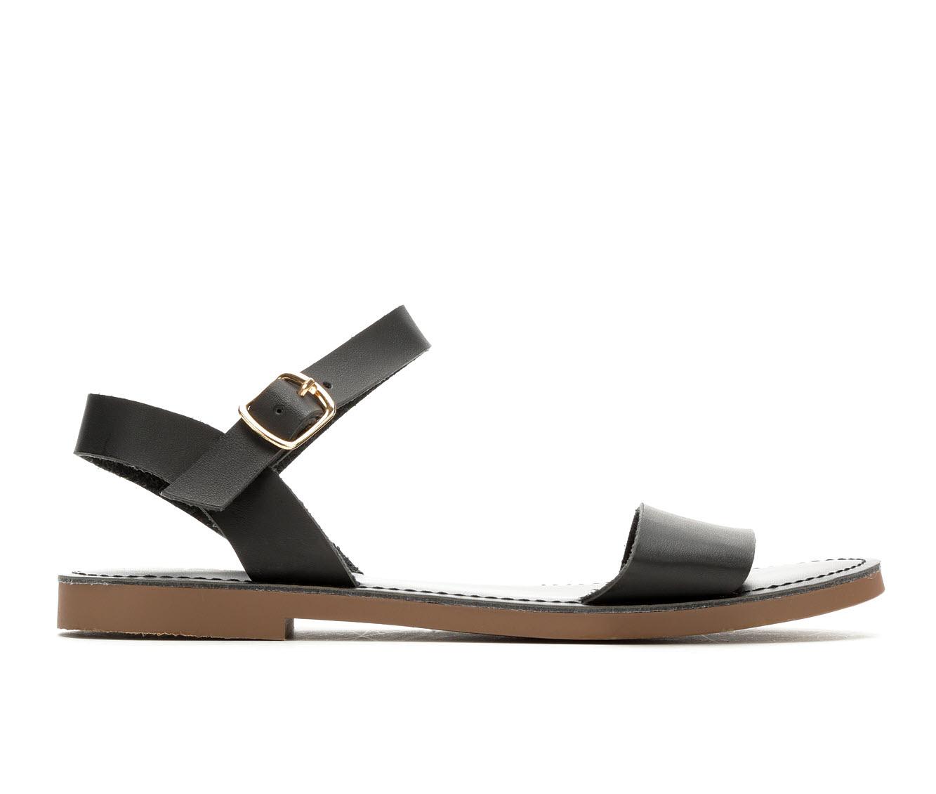 Y-Not Bigboss Women's Sandal (Black Faux Leather)