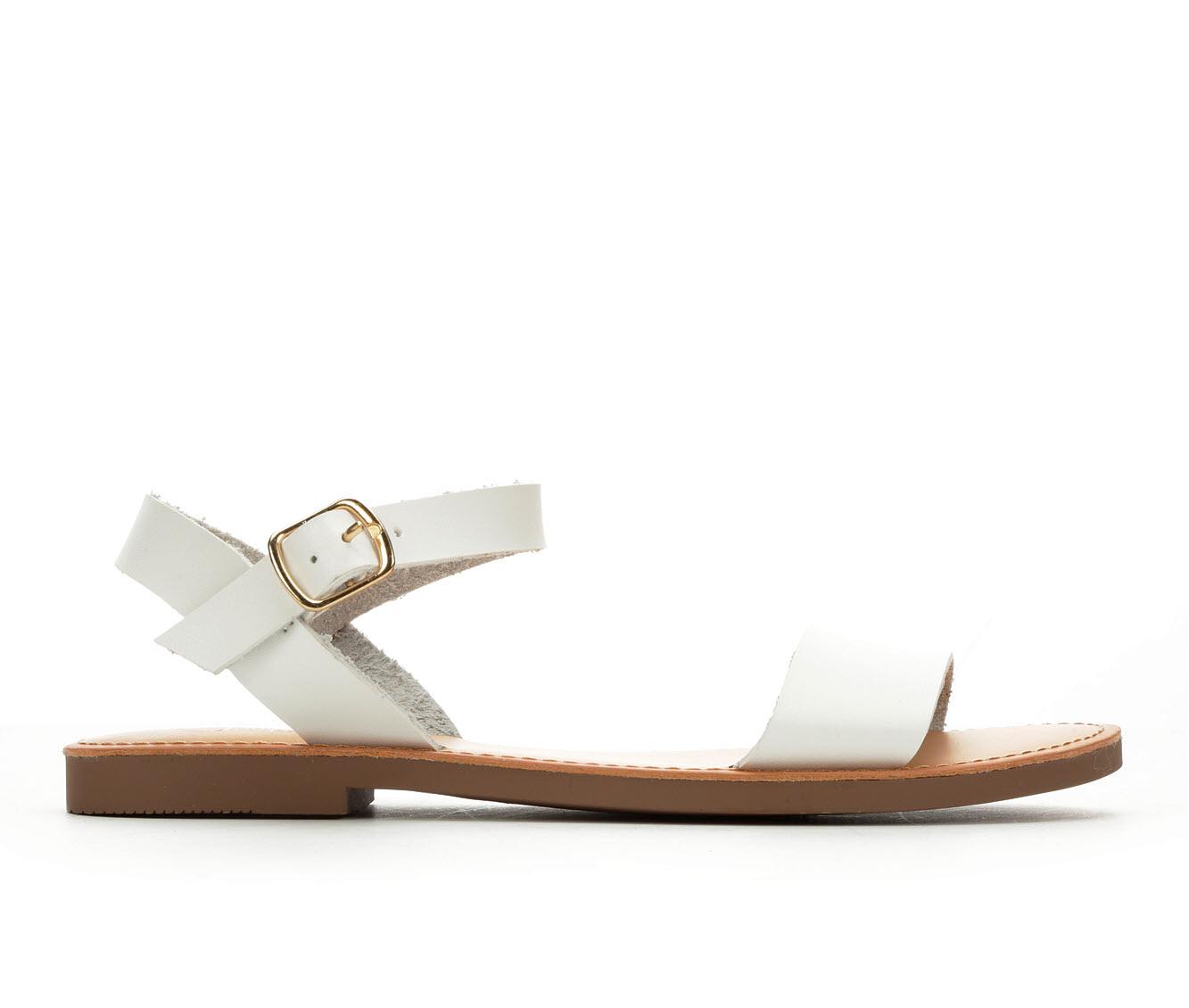 Y-Not Bigboss Women's Sandal (White Faux Leather)