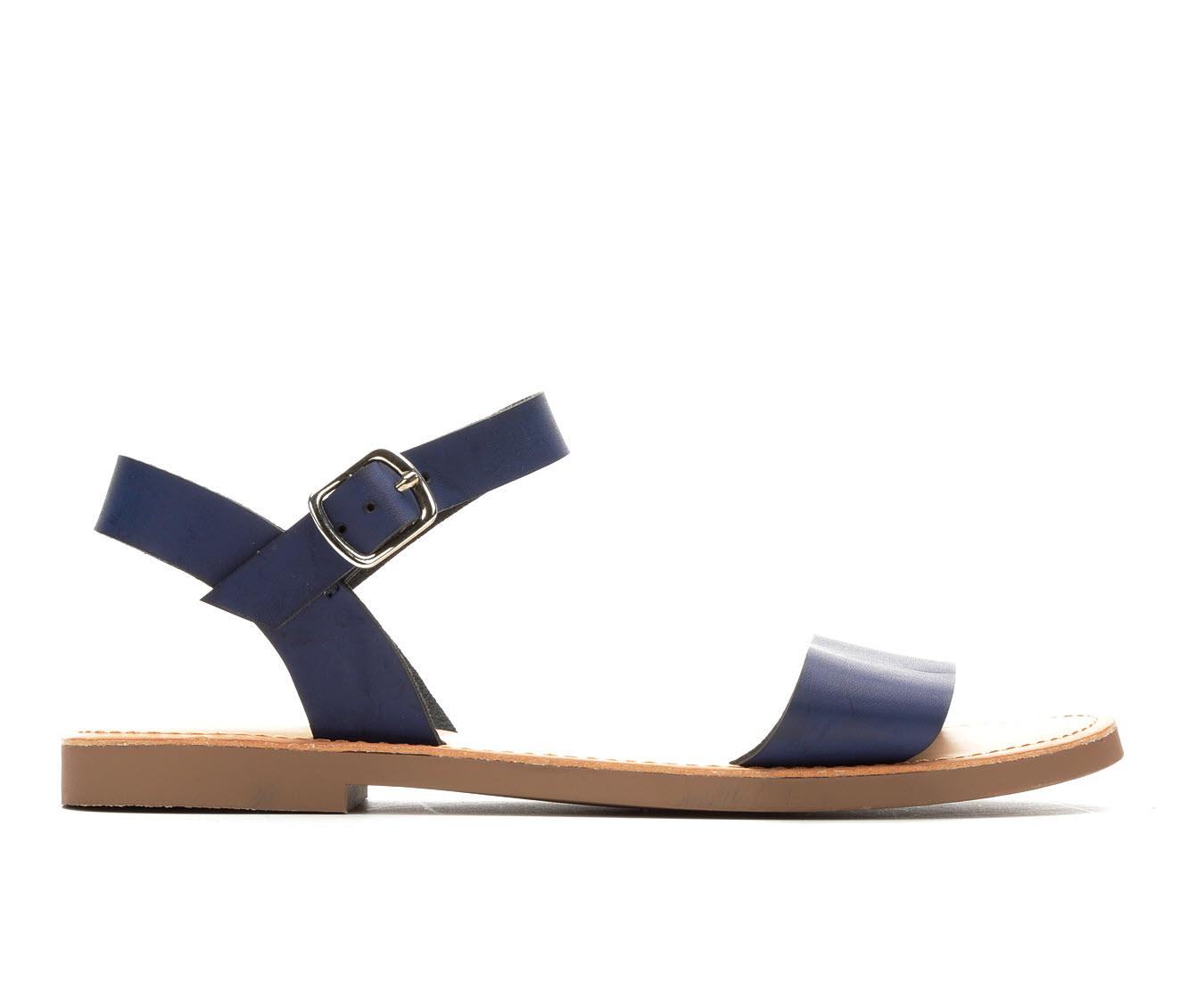 Y-Not Bigboss Women's Sandal (Blue Faux Leather)