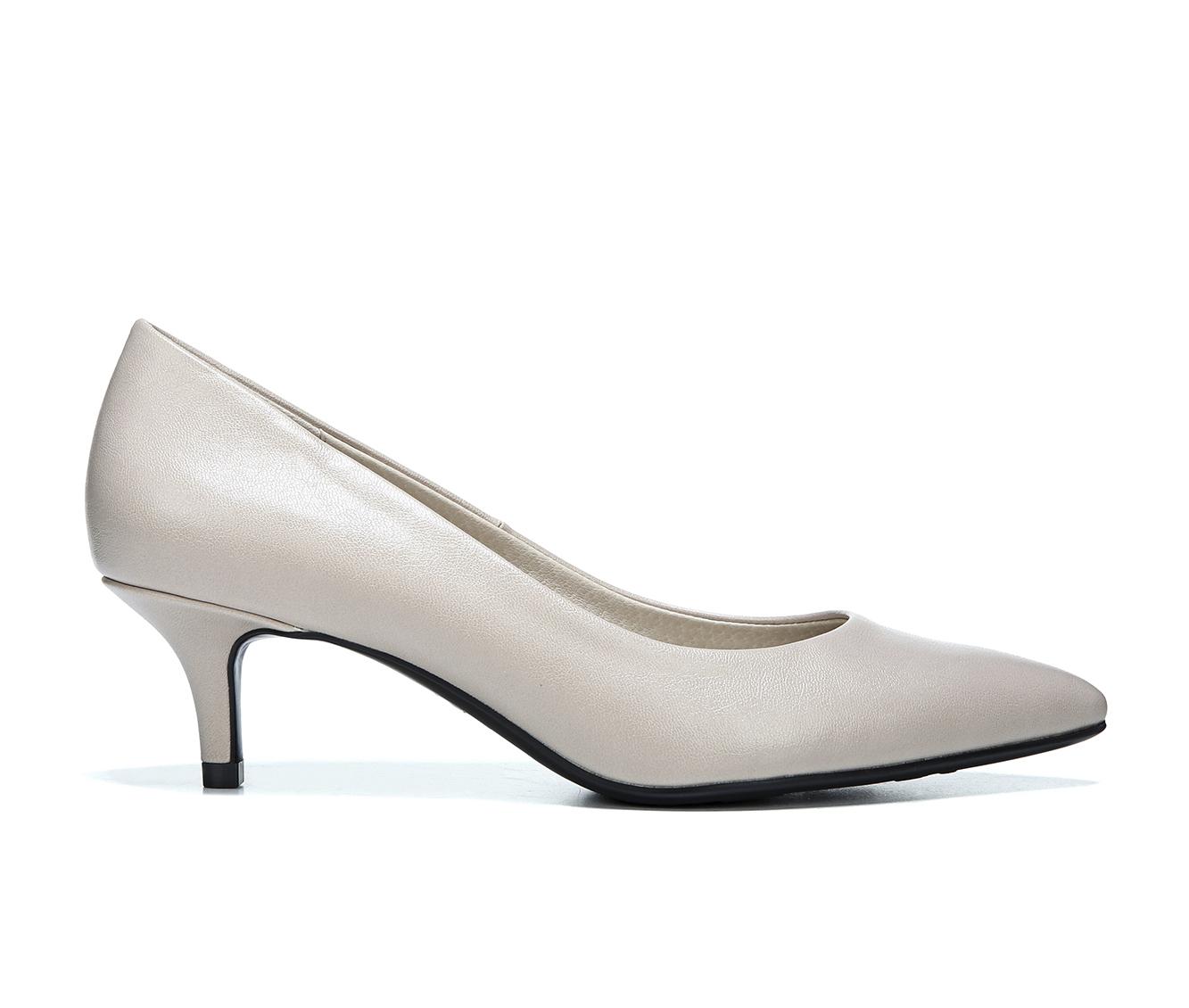 LifeStride Pretty Women's Dress Shoe (Beige Faux Leather)