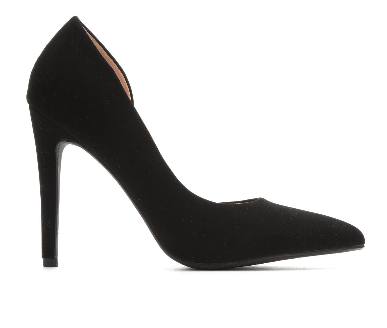 Delicious Stephanie Women's Dress Shoe (Black Faux Leather)