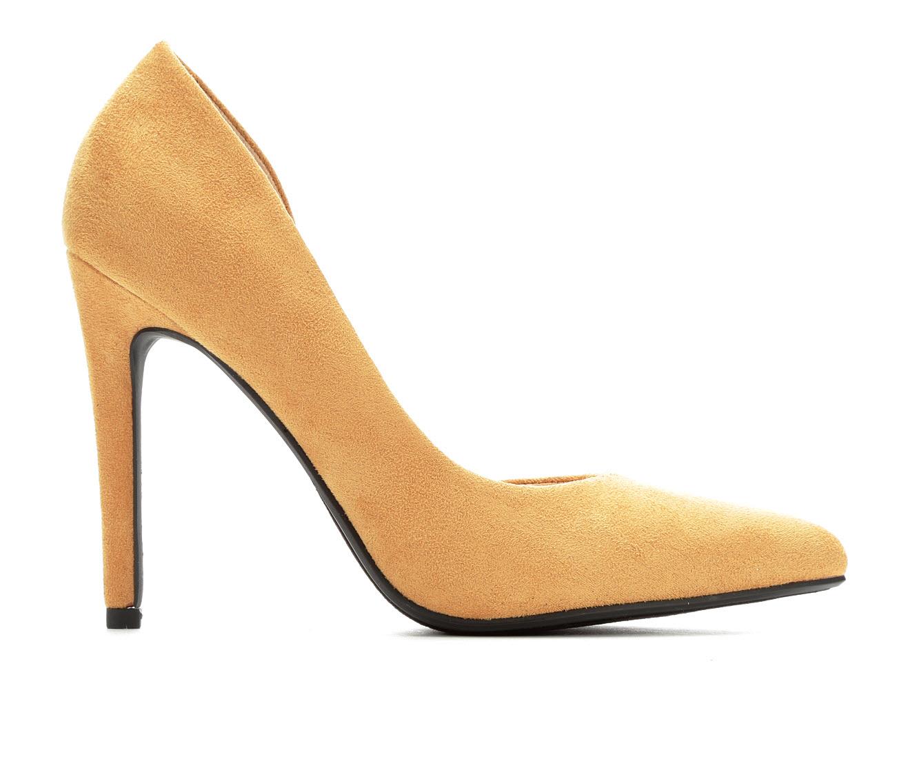 Delicious Stephanie Women's Dress Shoe (Yellow Canvas)