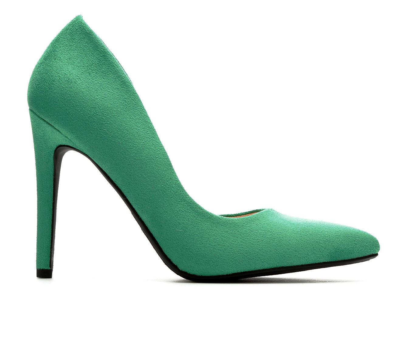 Delicious Stephanie Women's Dress Shoe (Green Canvas)