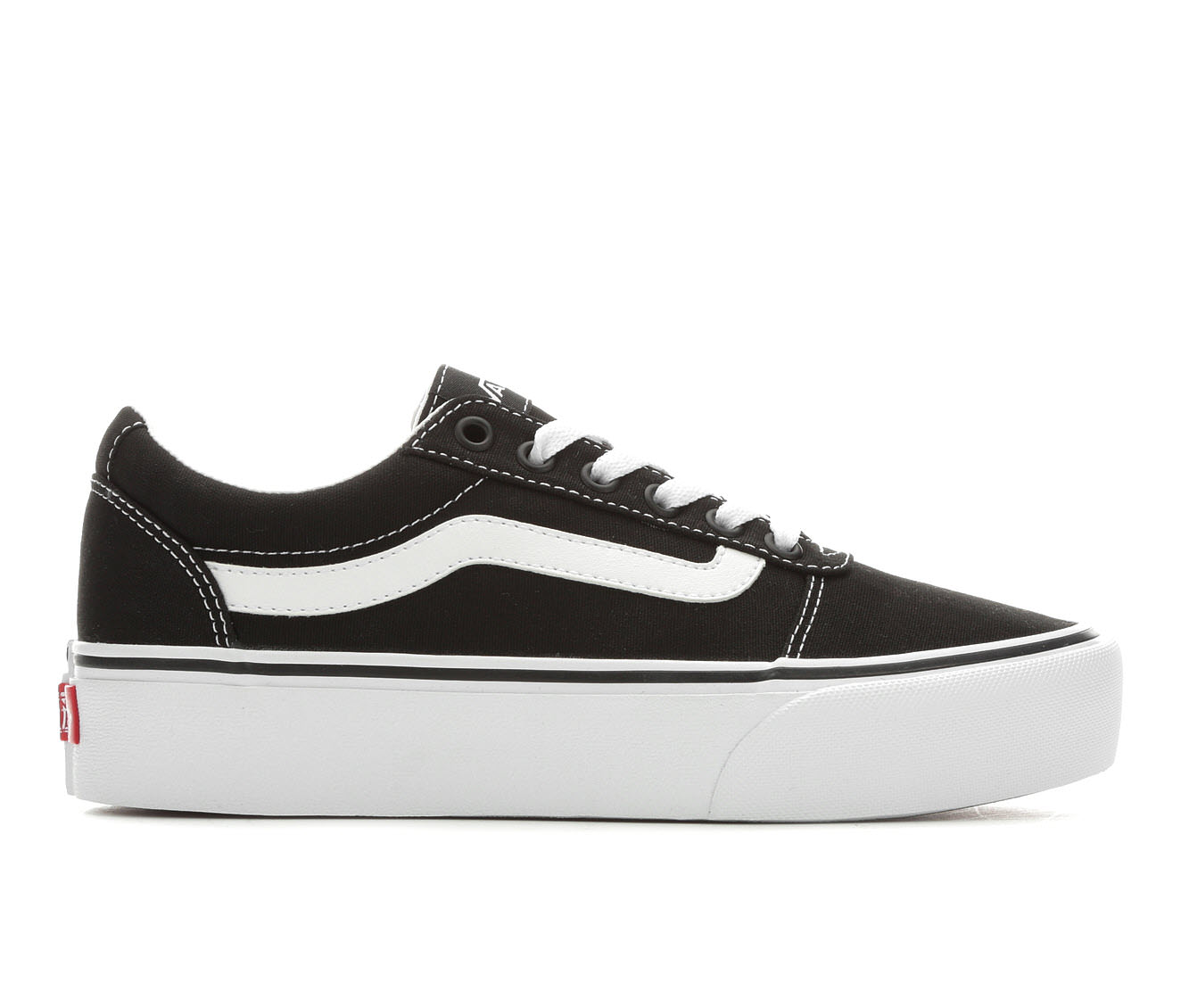 Vans Ward Platform Women's Athletic Shoe (Black)