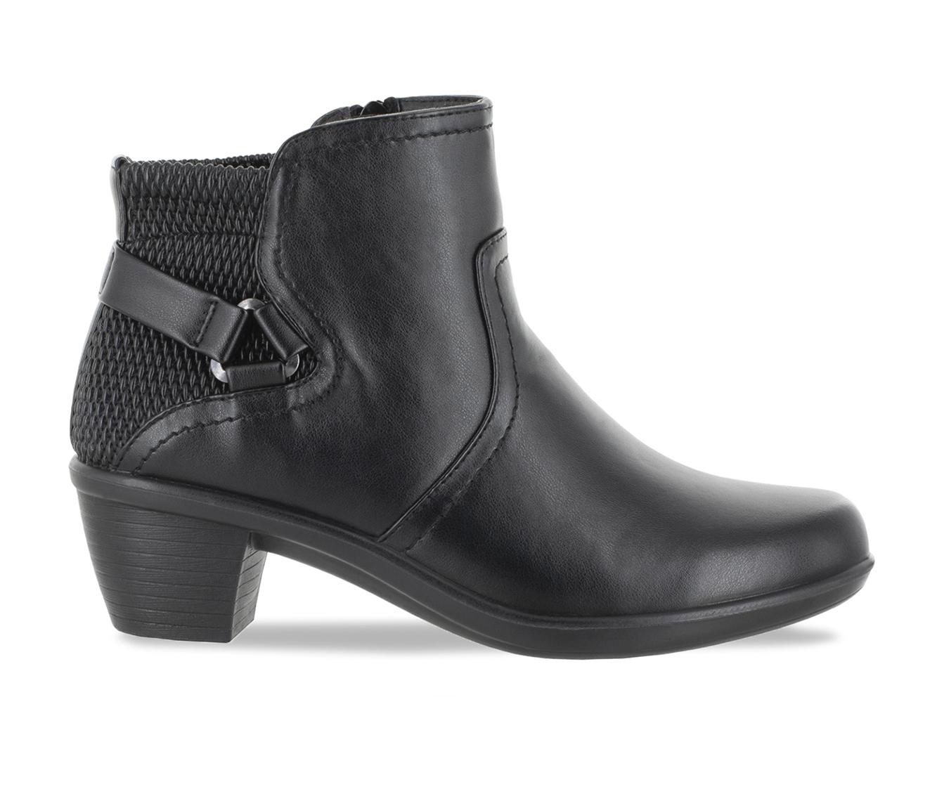 Easy Street Dawnta Women's Boot (Black Faux Leather)
