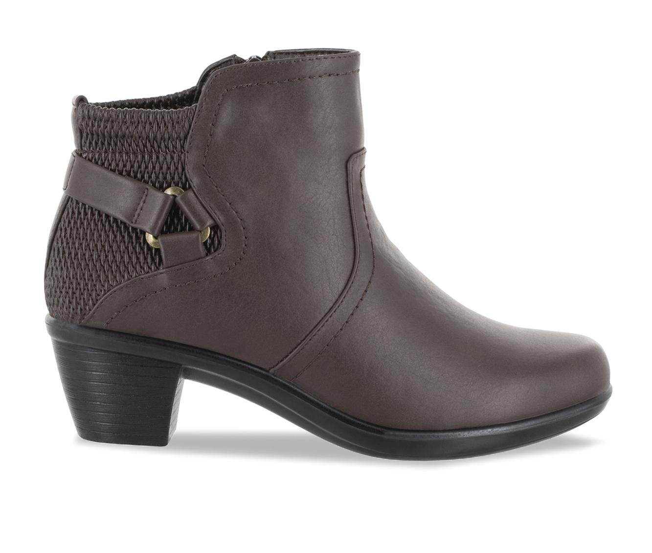 Easy Street Dawnta Women's Boot (Brown Faux Leather)