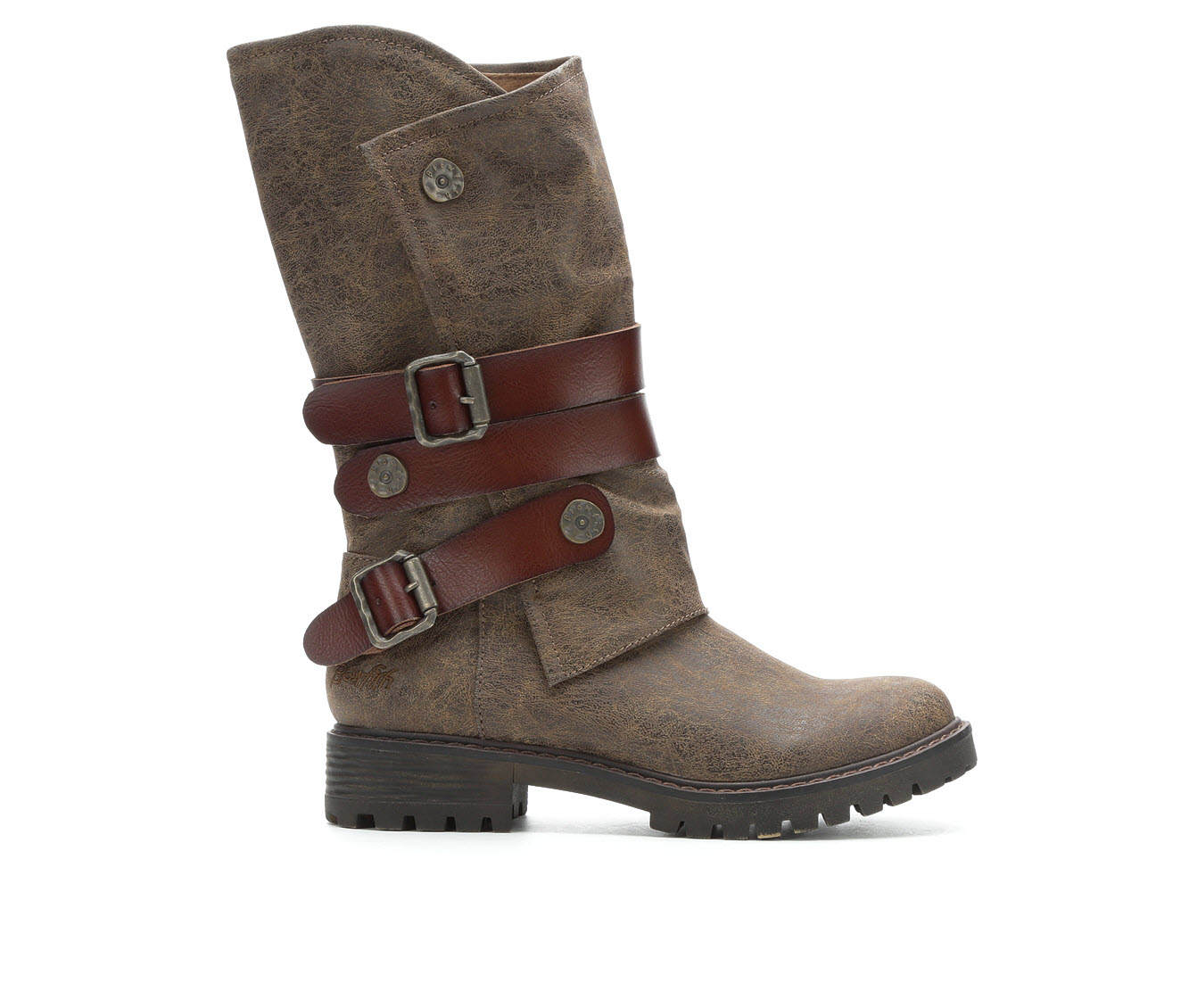 Blowfish Malibu Rider Women's Boots (Brown - Faux Leather)