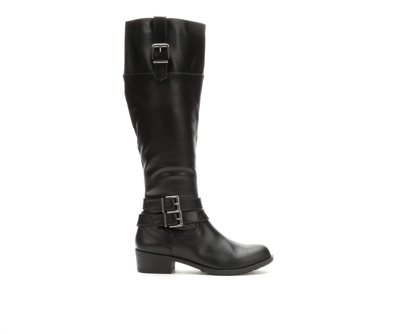 Solanz Grammercy Women's Boot (Black Faux Leather)