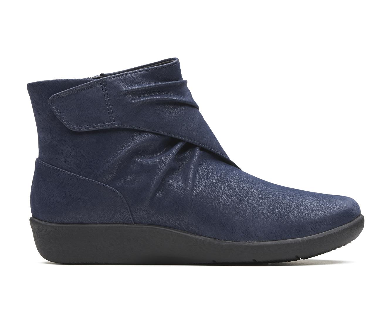 Clarks Sillian Tana Women's Boot (Blue Canvas)