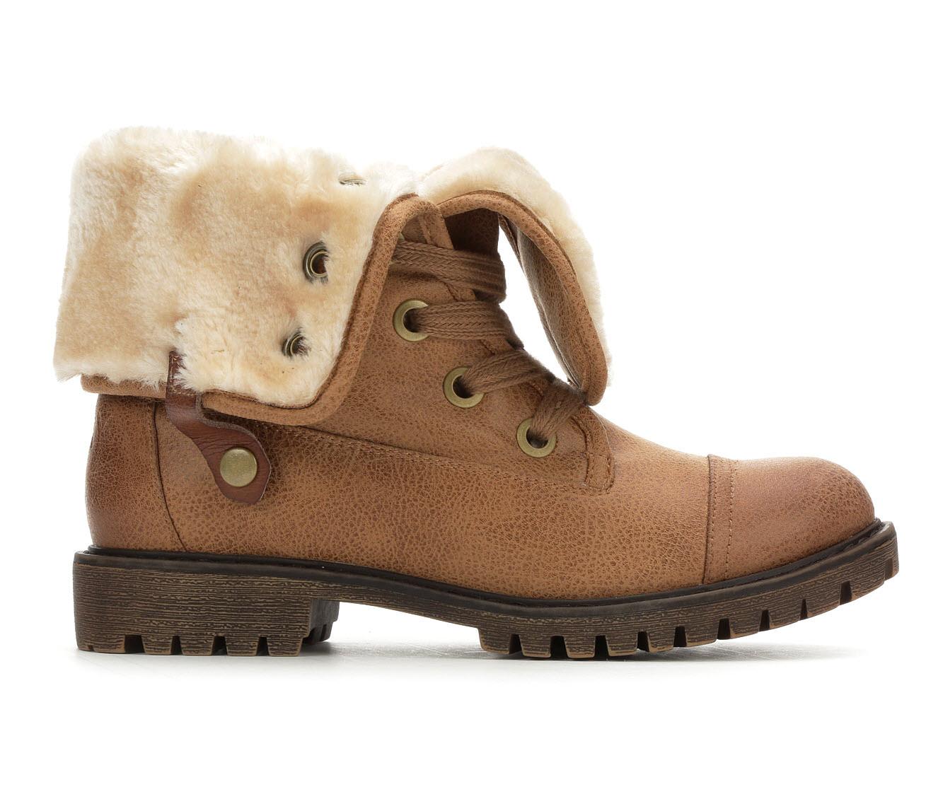 Roxy Bruna Women's Boot (Beige Faux Leather)