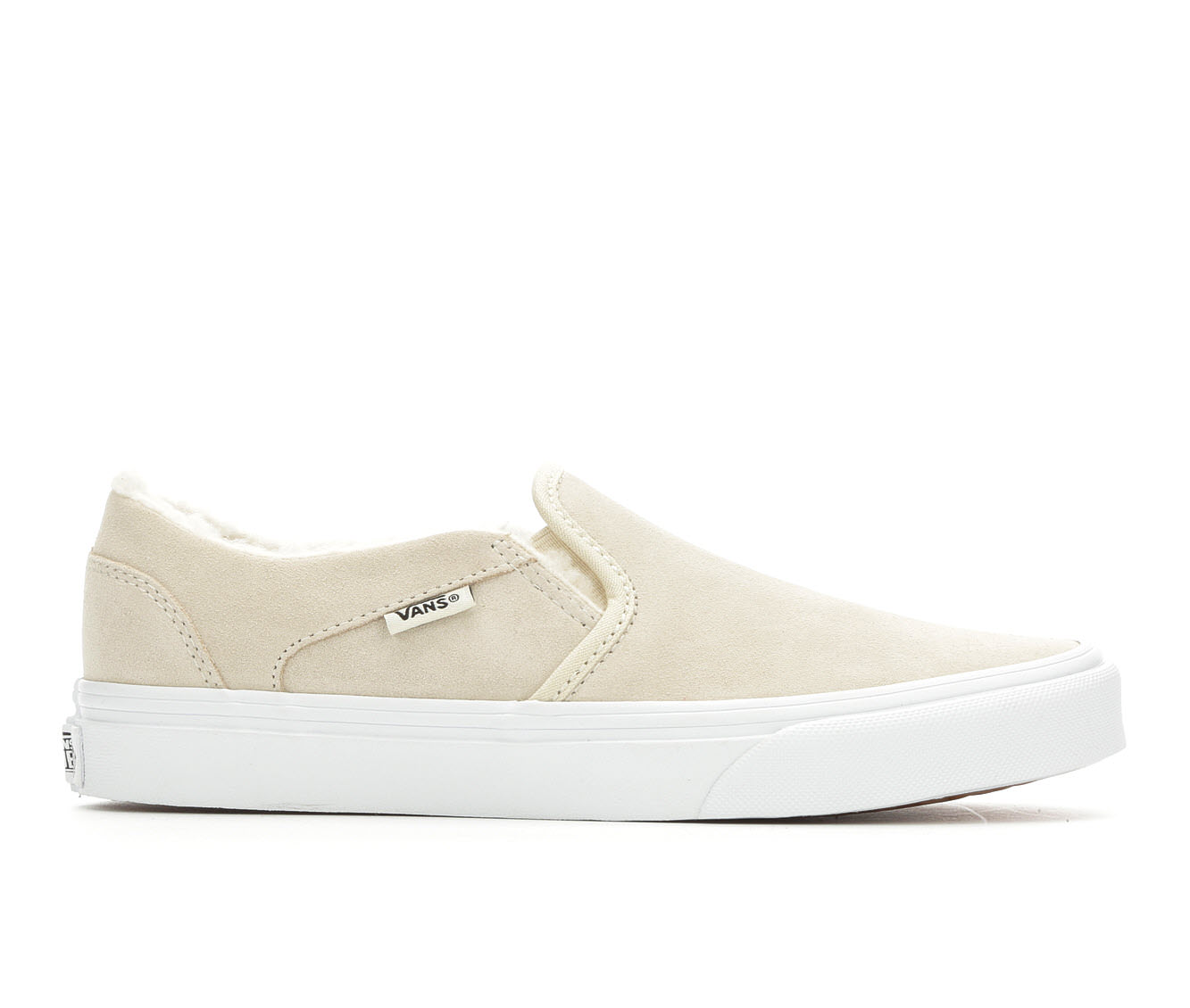 Vans Asher Suede Women's Athletic Shoe (Beige Suede)