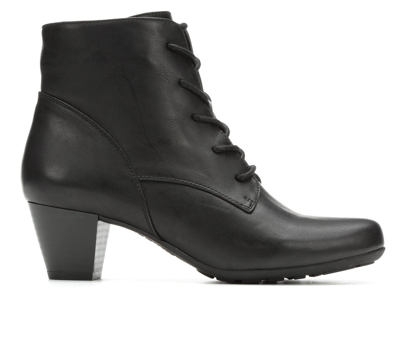Cliffs Livia Women's Boot (Black Faux Leather)