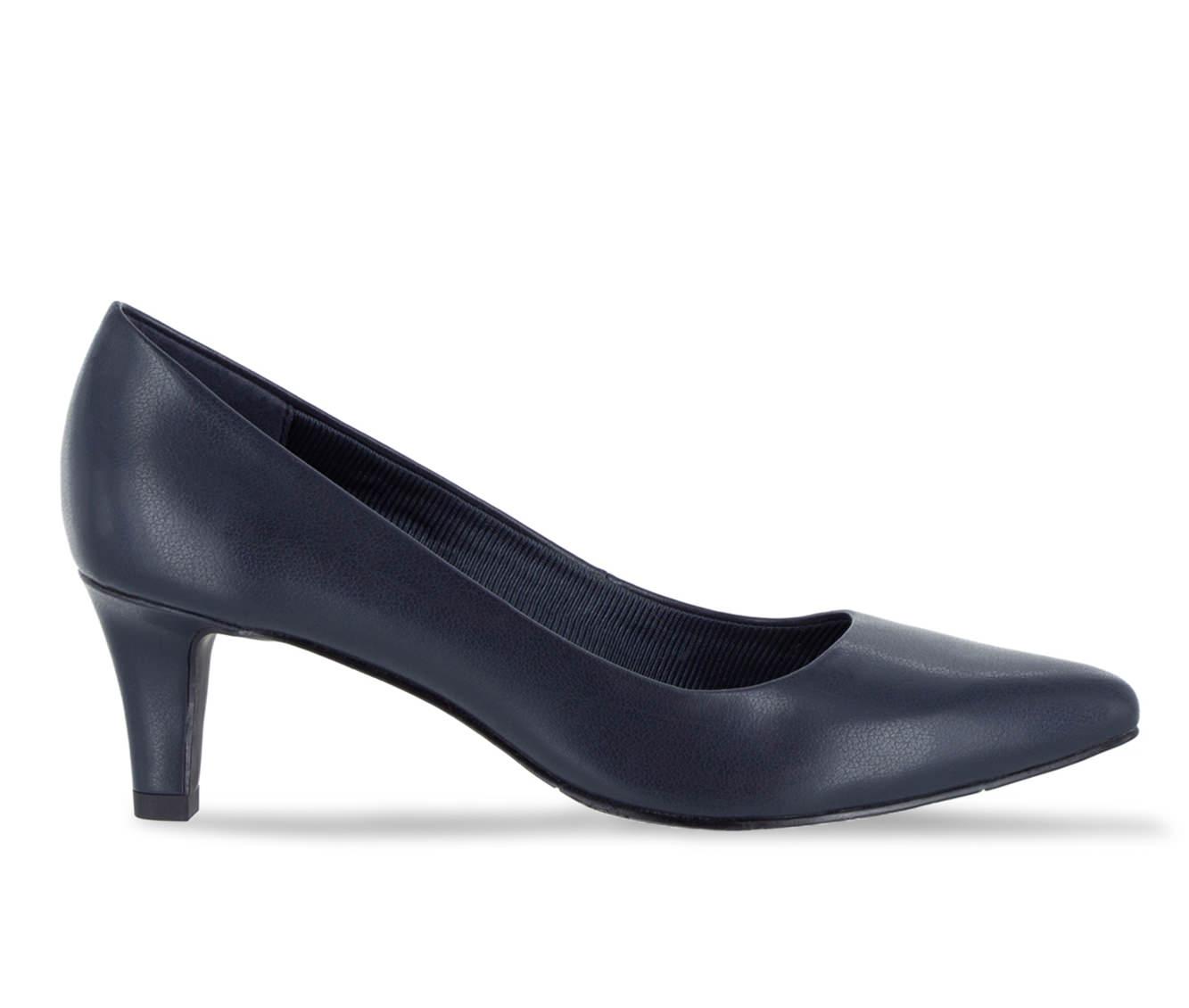 Easy Street Pointe Women's Dress Shoe (Blue Faux Leather)