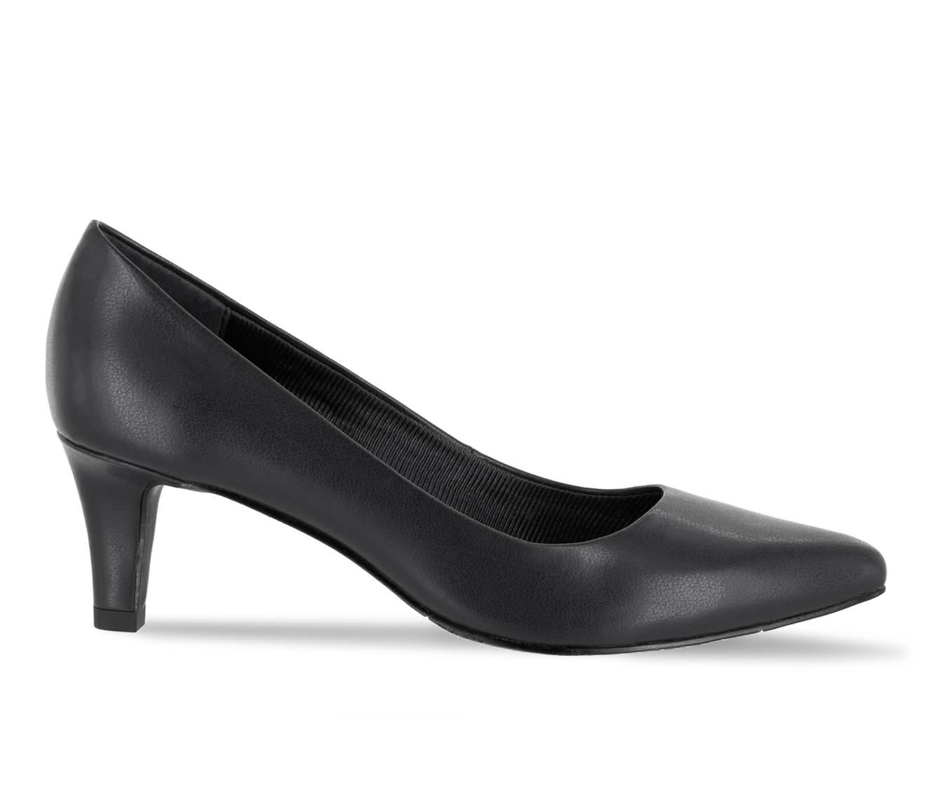 Easy Street Pointe Women's Dress Shoe (Black Faux Leather)