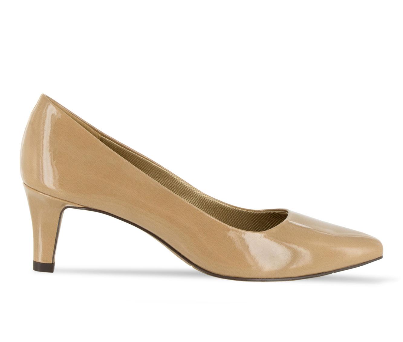 Easy Street Pointe Women's Dress Shoe (Beige Faux Leather)