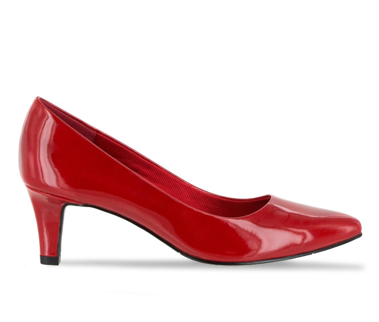 Easy Street Pointe Women's Dress Shoe (Red Faux Leather)