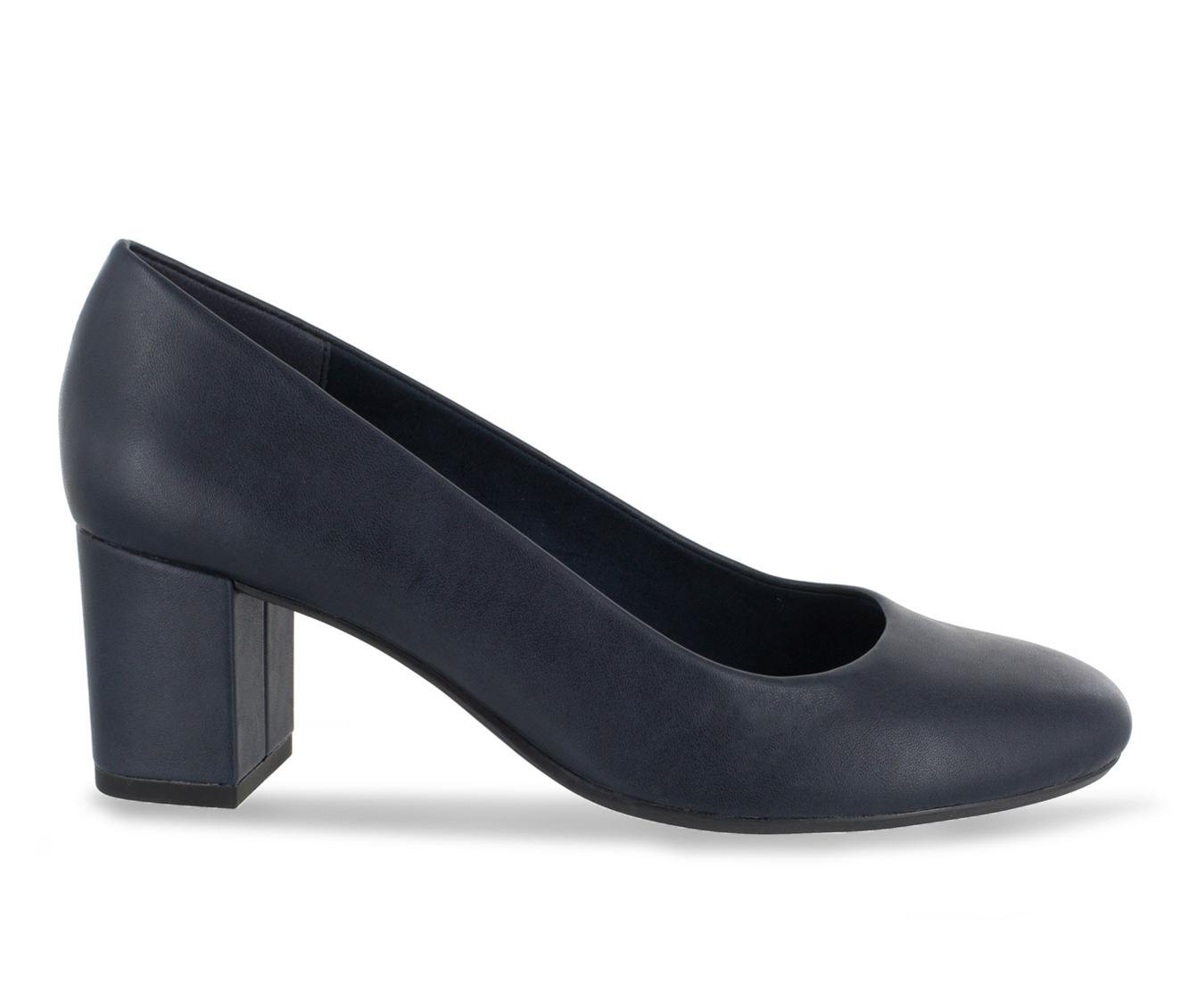 Easy Street Proper Women's Dress Shoe (Blue Faux Leather)